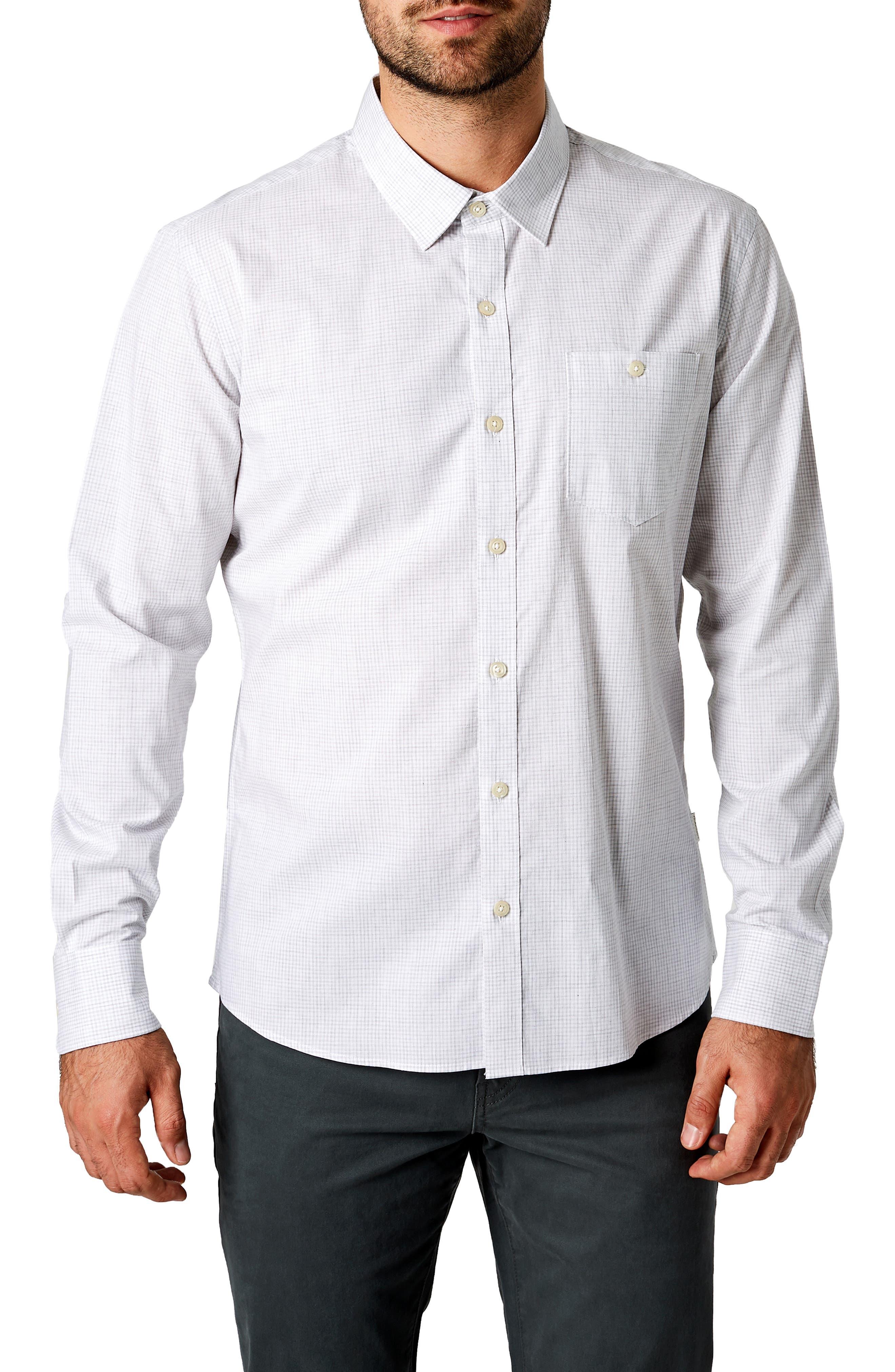 South London Trim Fit Check Sport Shirt,                         Main,                         color, 451