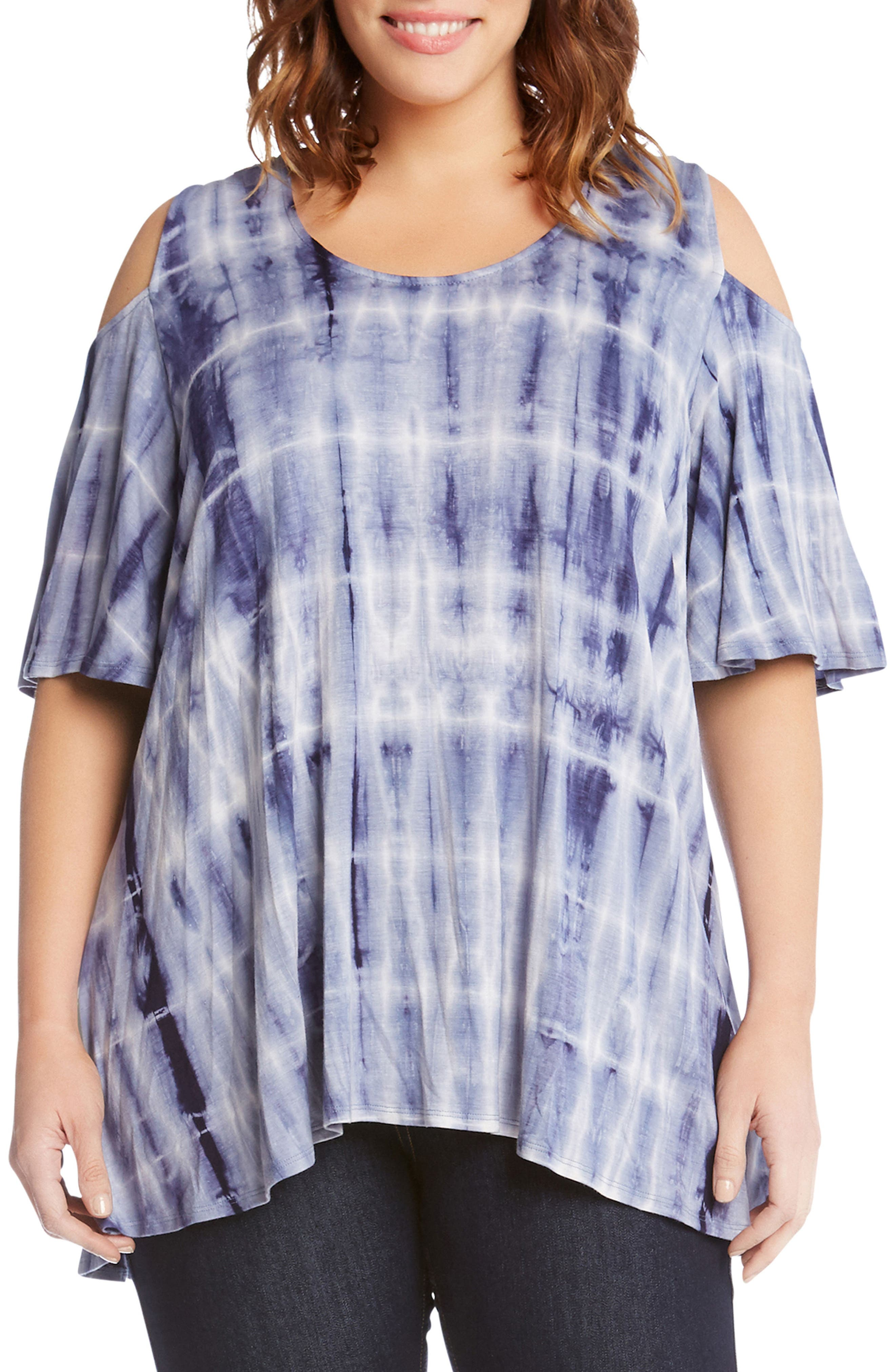 Tie Dye Cold Shoulder Top,                             Main thumbnail 1, color,                             400