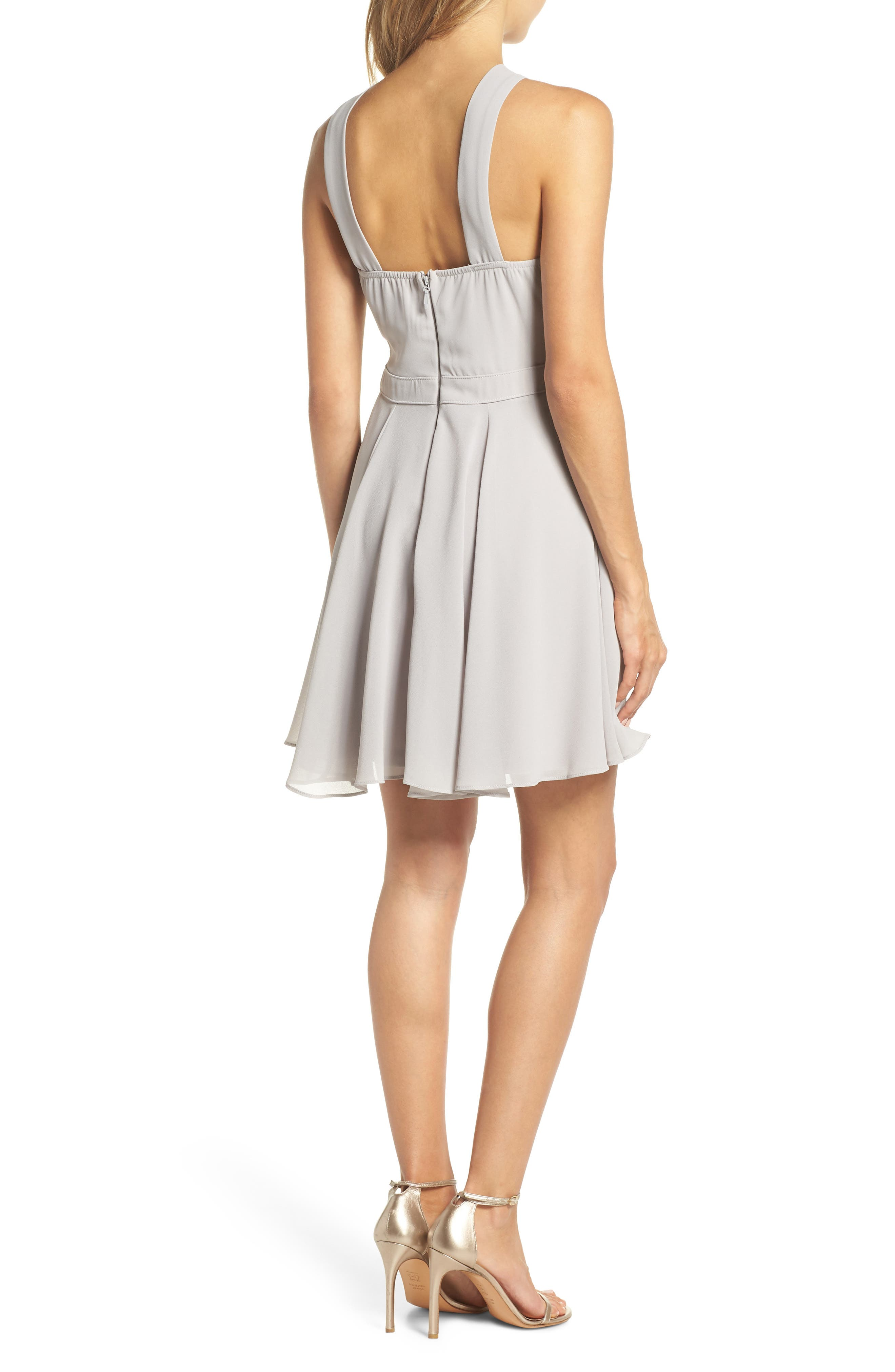 Forevermore Skater Dress,                             Alternate thumbnail 2, color,                             GREY