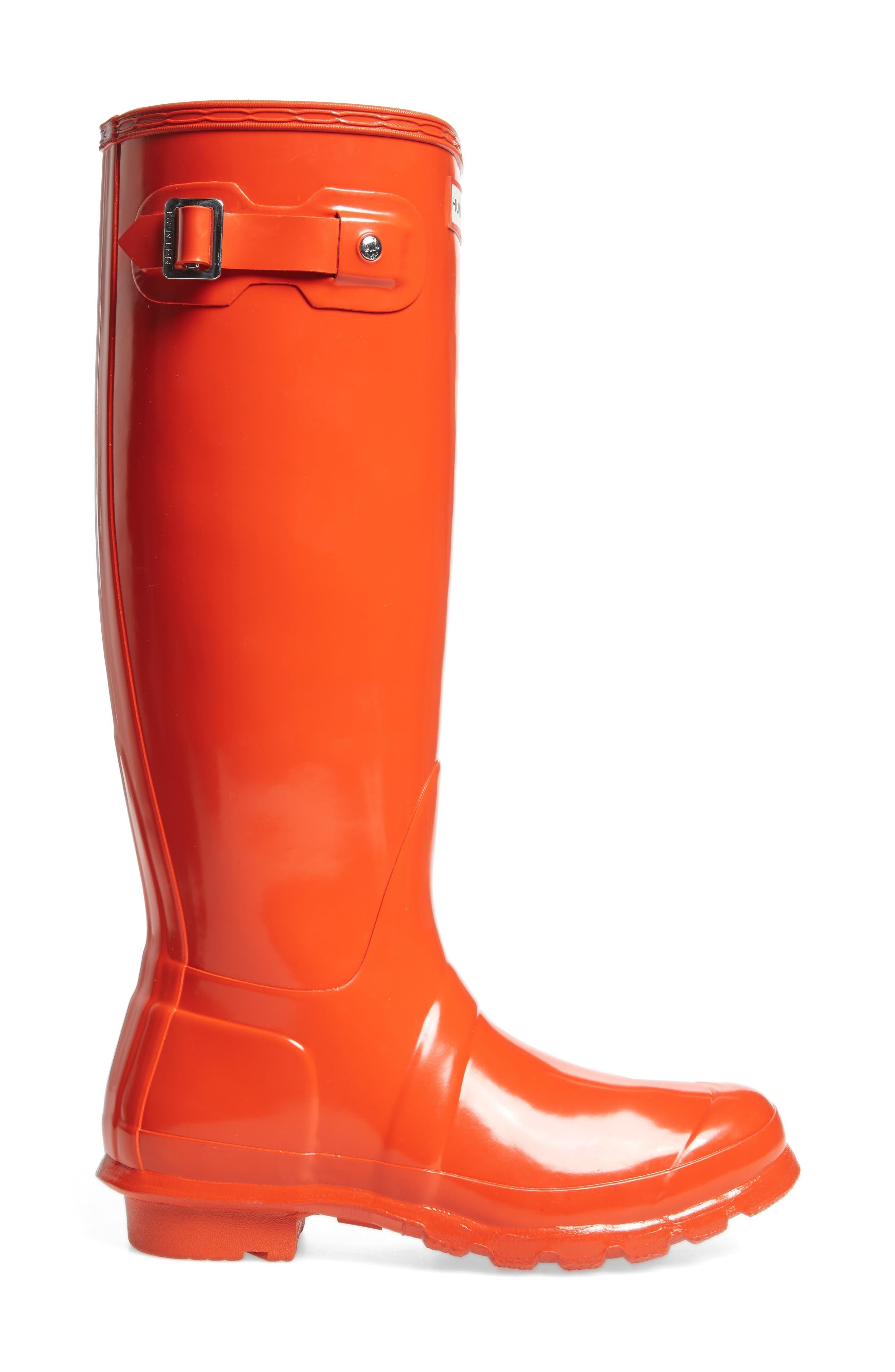 Original High Gloss Boot,                             Alternate thumbnail 4, color,                             ORANGE