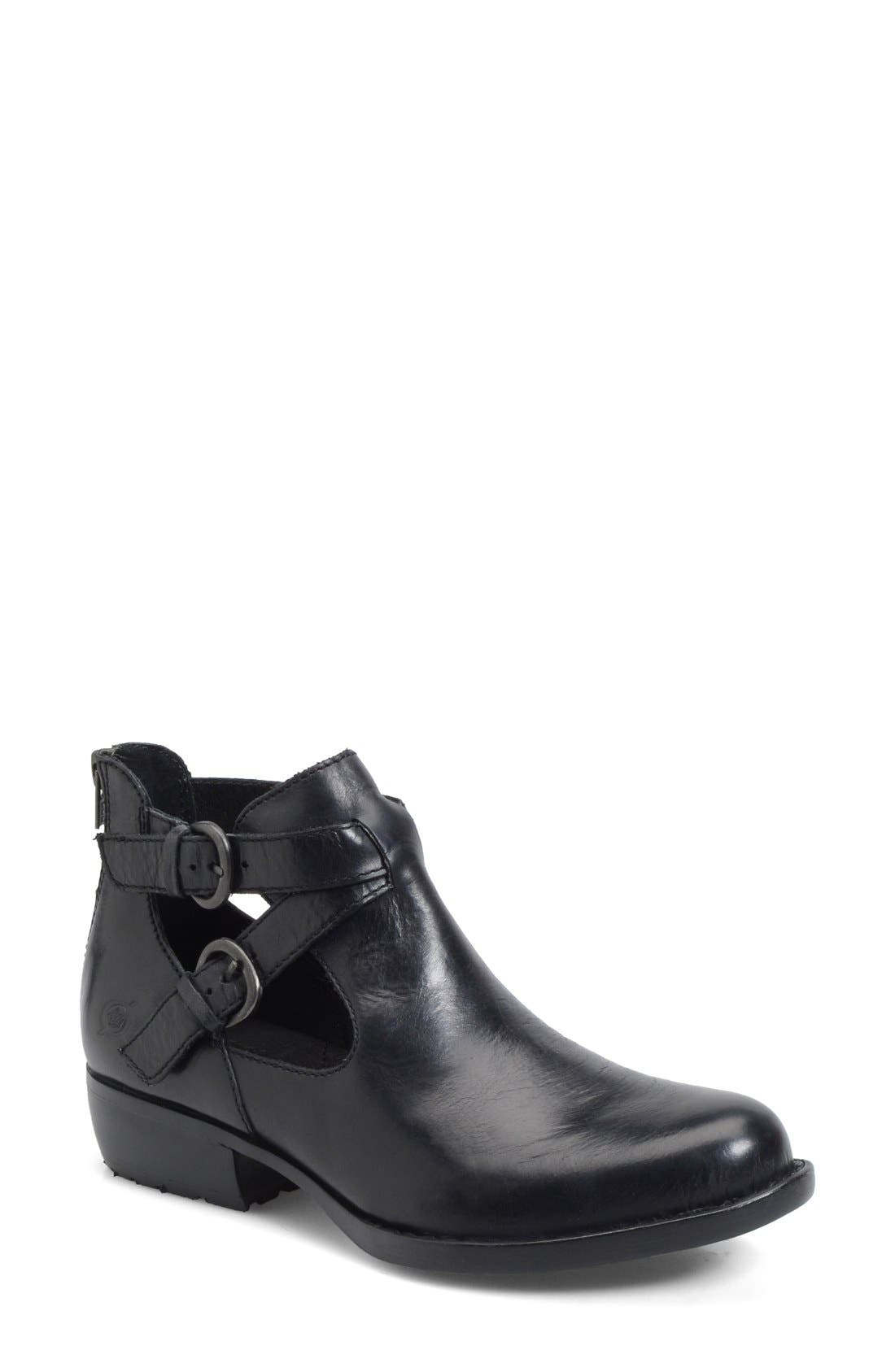 'Kamilla' Cutout Ankle Boot,                         Main,                         color, 001