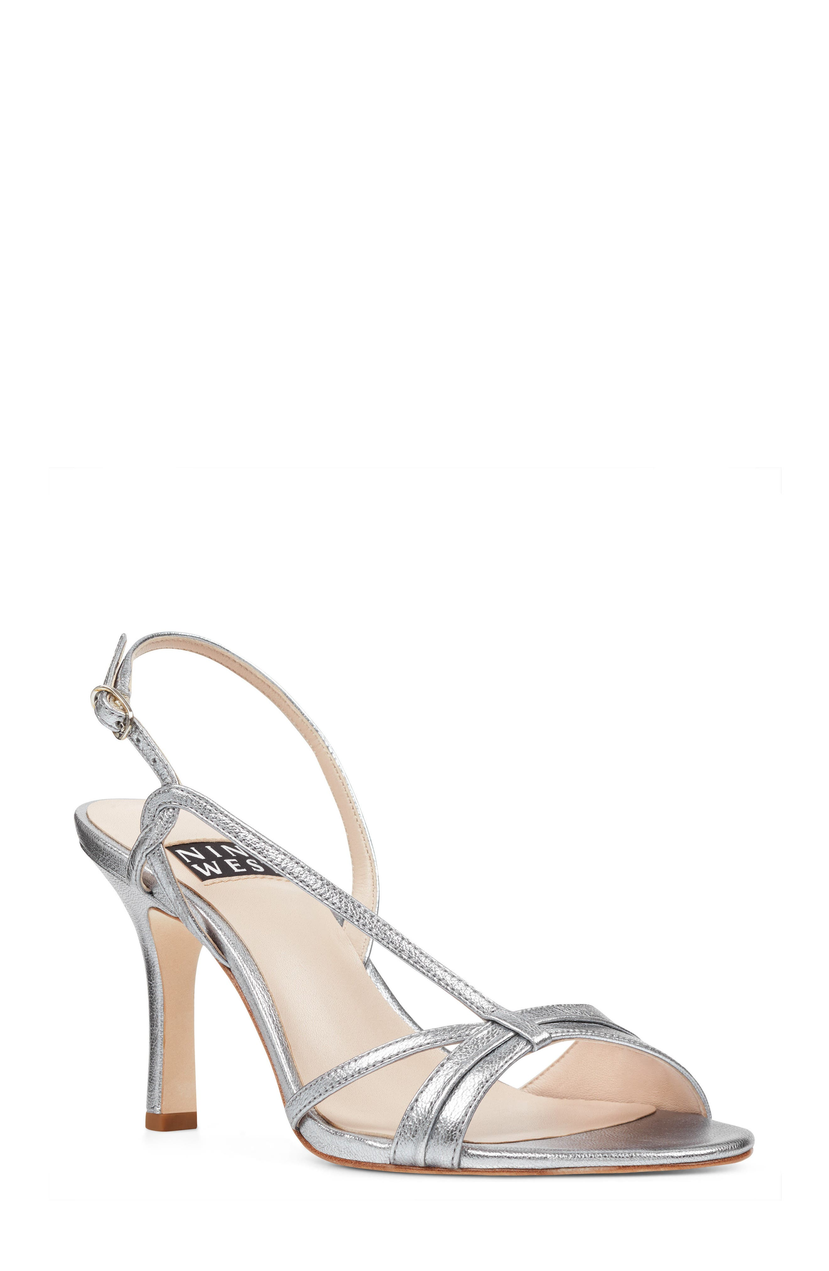 Accolia - 40th Anniversary Capsule Collection Sandal,                             Main thumbnail 1, color,                             SILVER LEATHER