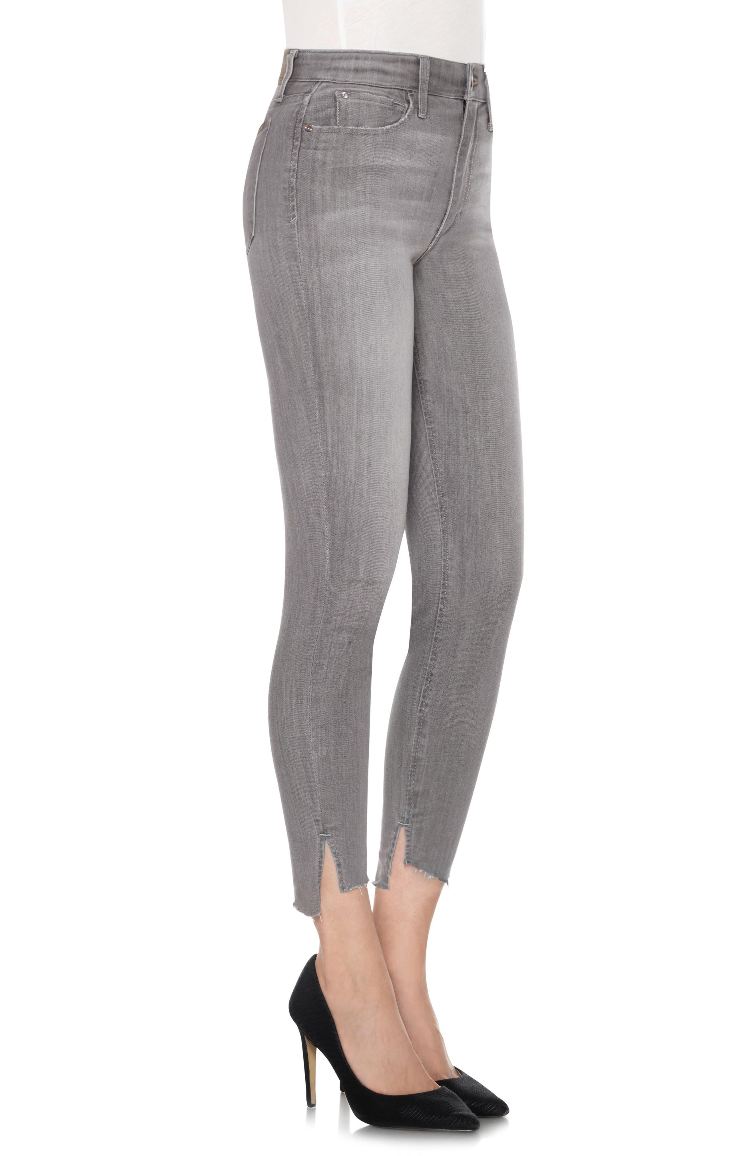 Cool Off - Charlie Step-Up Hem High Rise Skinny Jeans,                             Alternate thumbnail 4, color,                             050