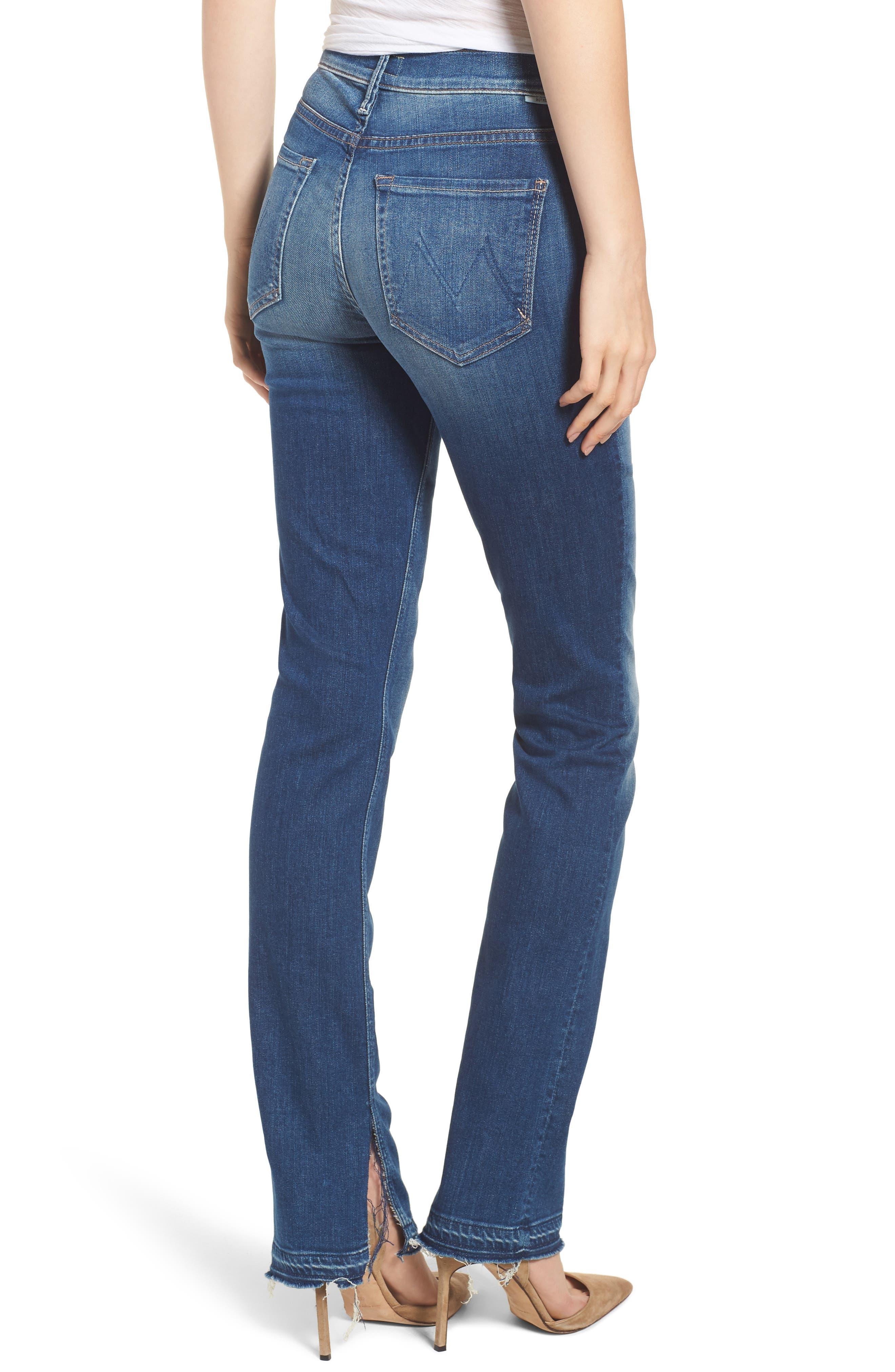 The Rascal Released Hem Straight Leg Jeans,                             Alternate thumbnail 2, color,                             400