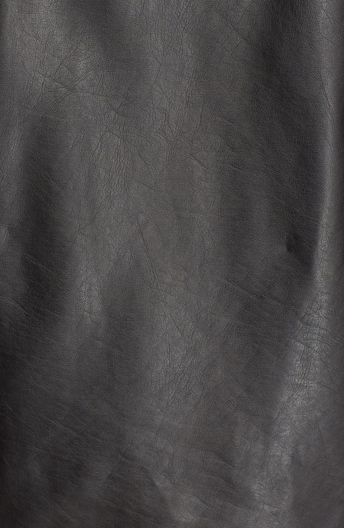 'Exclusive' Faux Leather Jacket,                             Alternate thumbnail 4, color,                             001