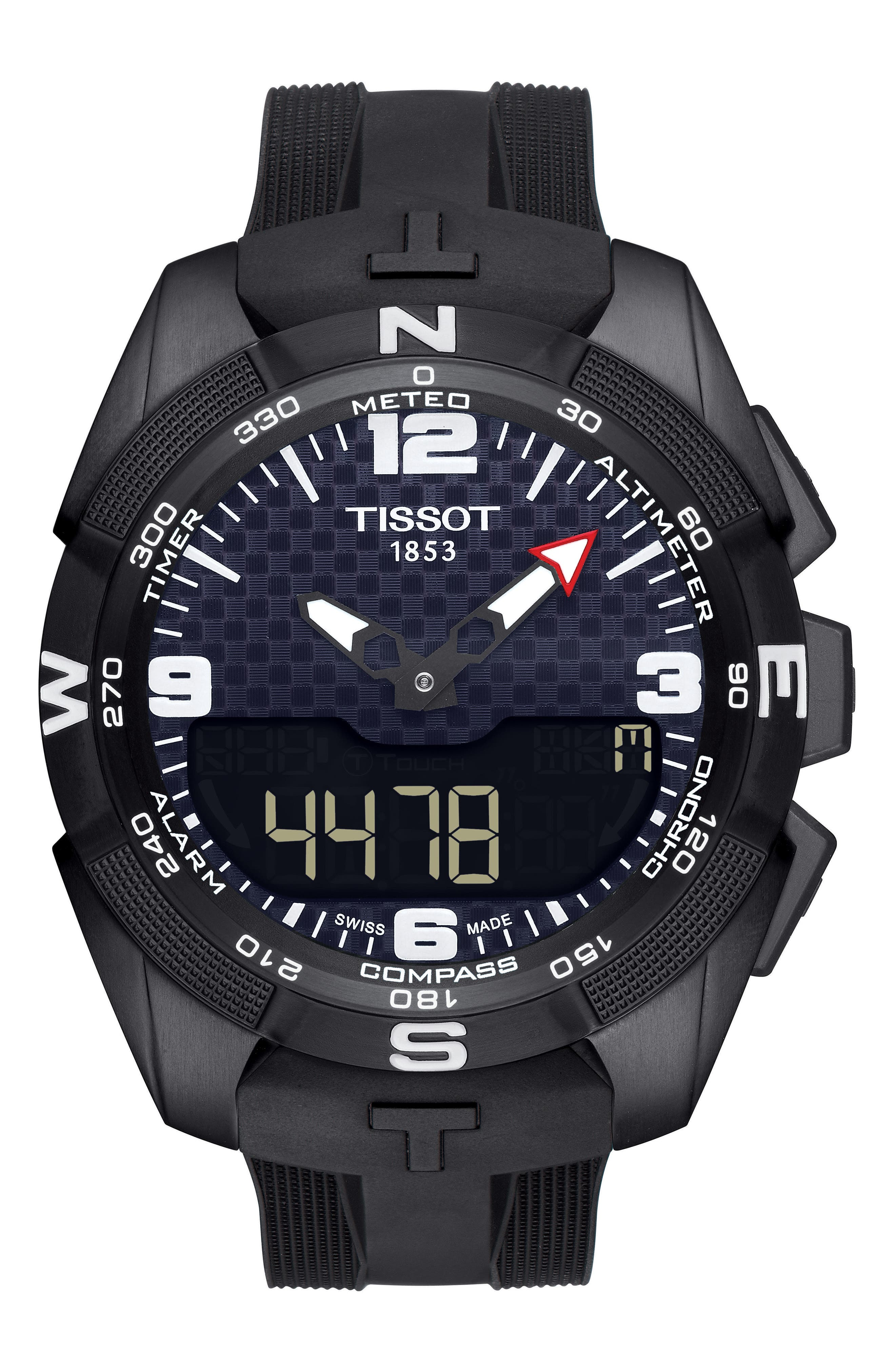 T-Touch Expert Solar Multifunction Smartwatch, 45mm,                             Main thumbnail 2, color,