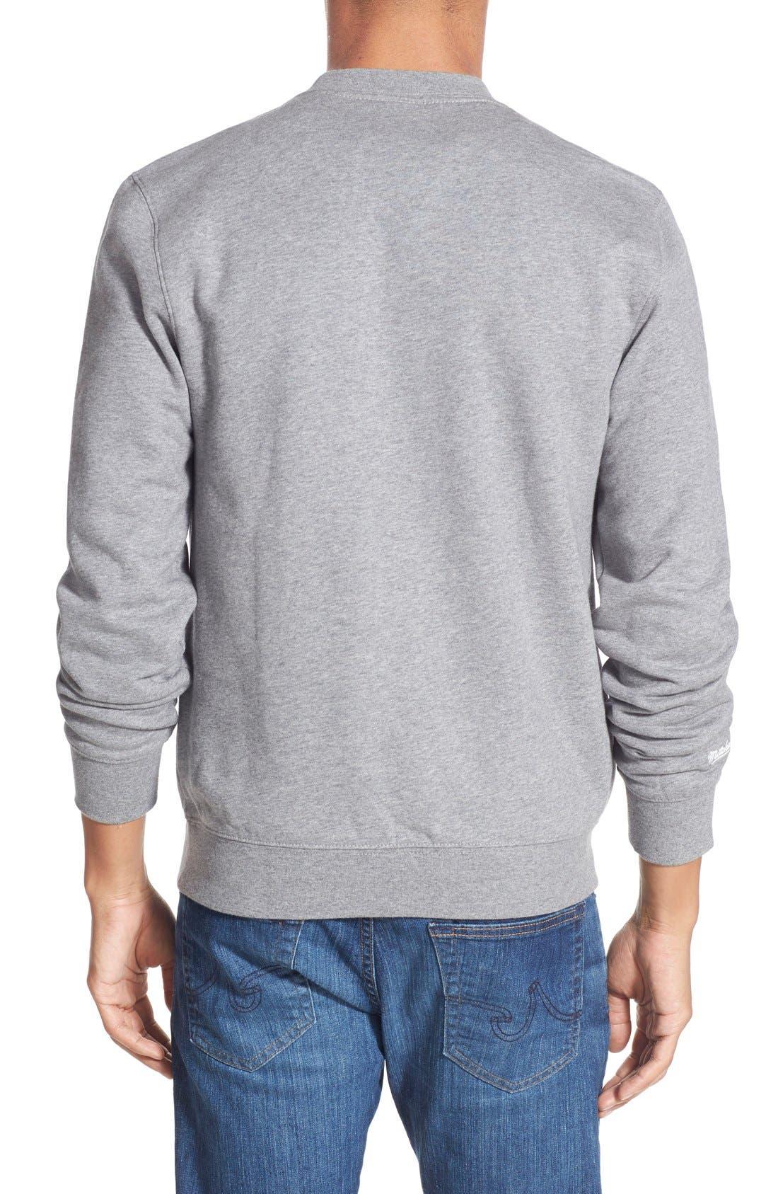 MITCHELL & NESS,                             Mitchell &Ness'Cleveland Browns' Tailored Fleece Crewneck Sweatshirt,                             Alternate thumbnail 2, color,                             061