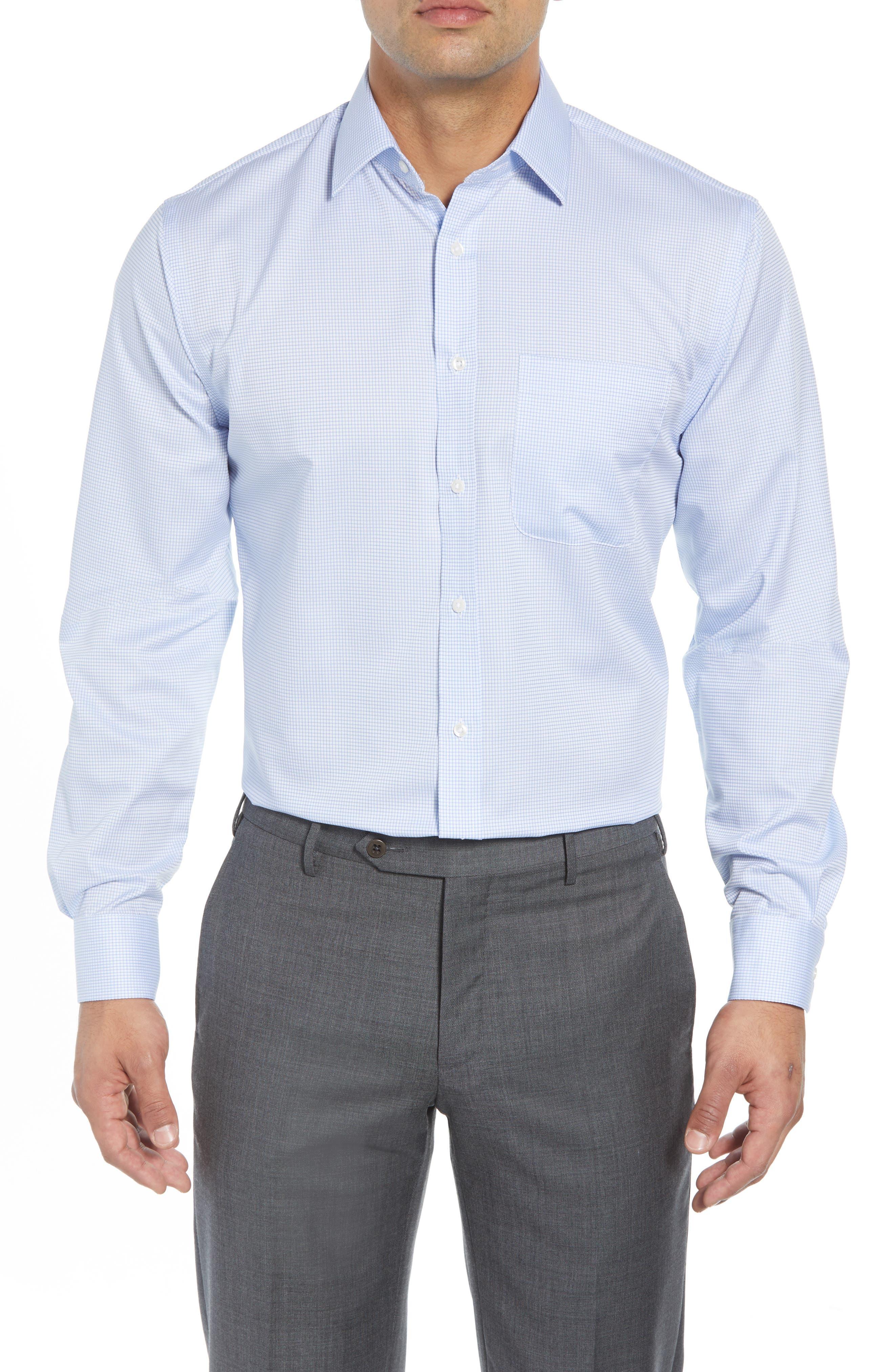 Traditional Fit Check Dress Shirt,                             Main thumbnail 1, color,                             450
