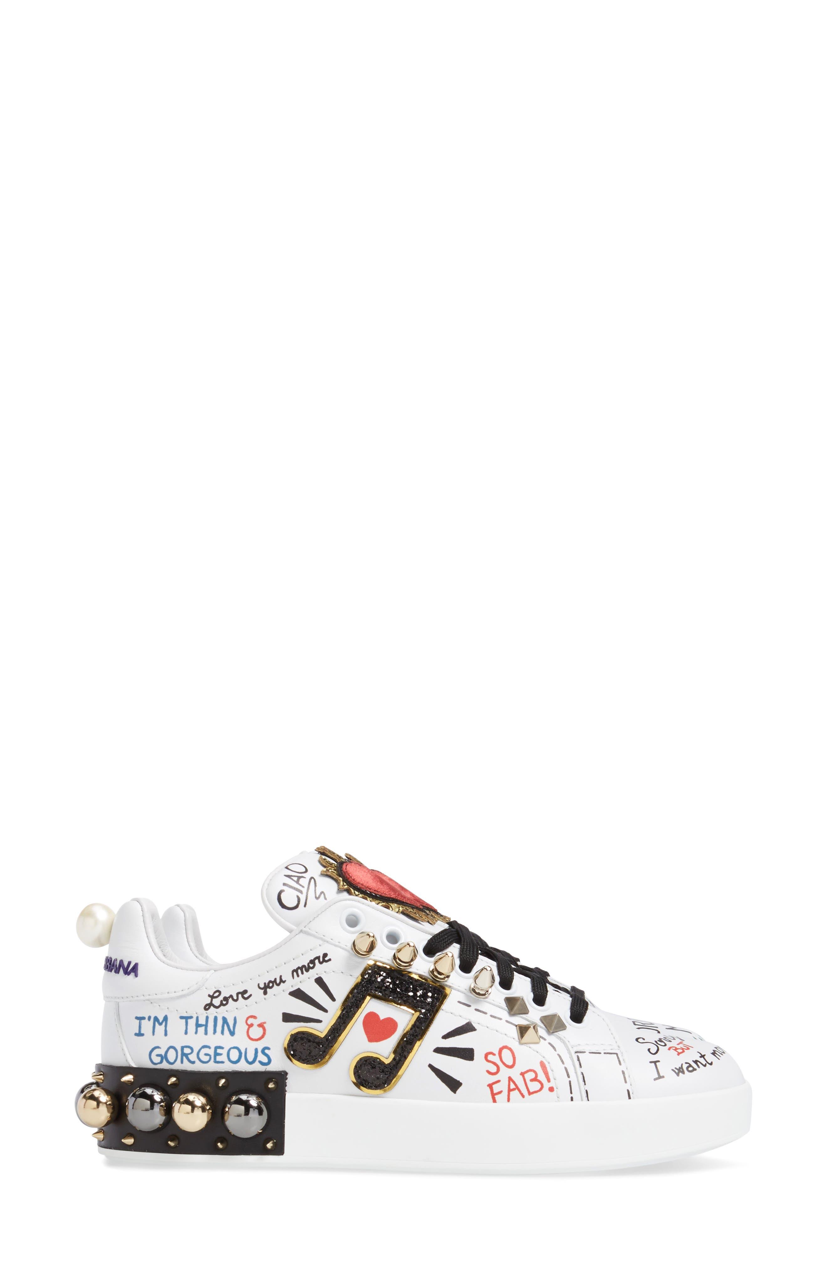 Mixed Media Sneaker,                             Alternate thumbnail 3, color,                             100