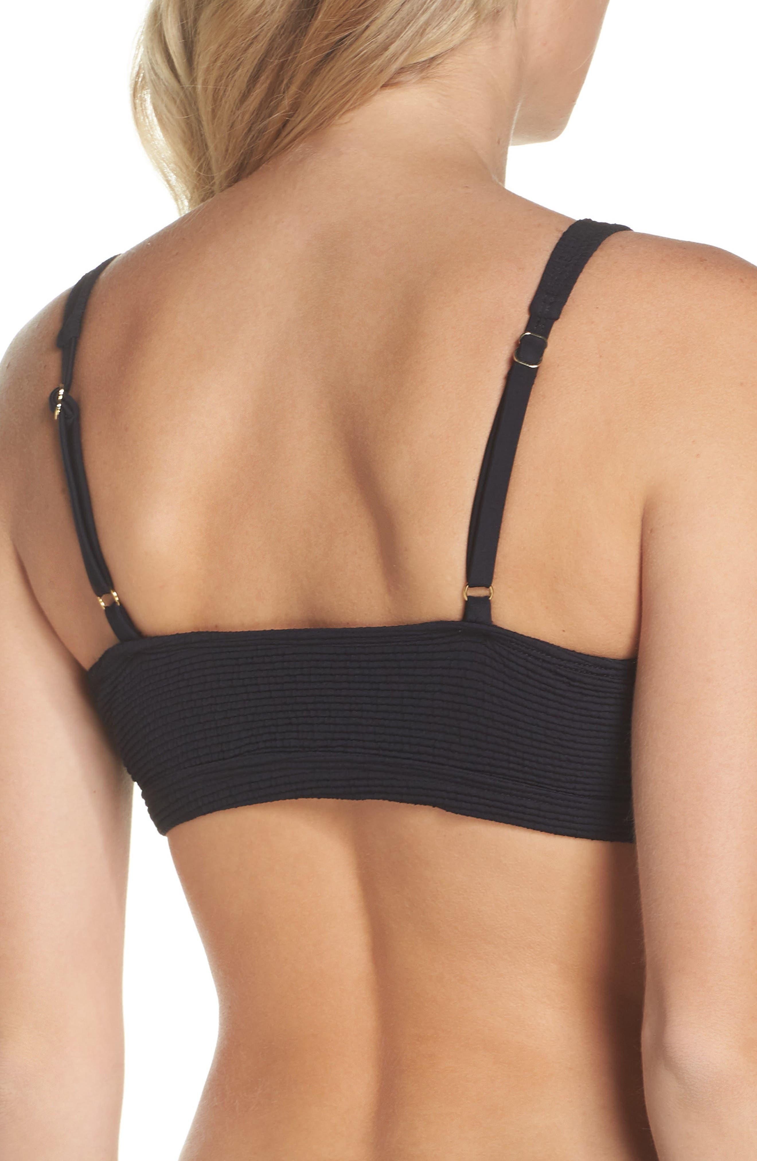Malibu Bikini Top,                             Alternate thumbnail 2, color,                             BLACK
