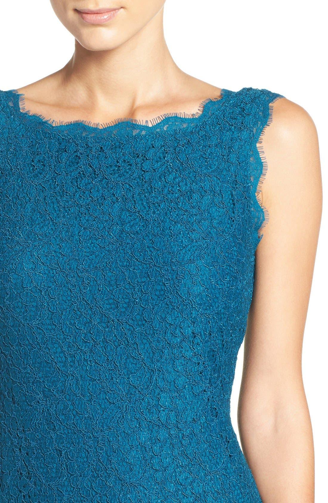 Boatneck Lace Sheath Dress,                             Alternate thumbnail 112, color,