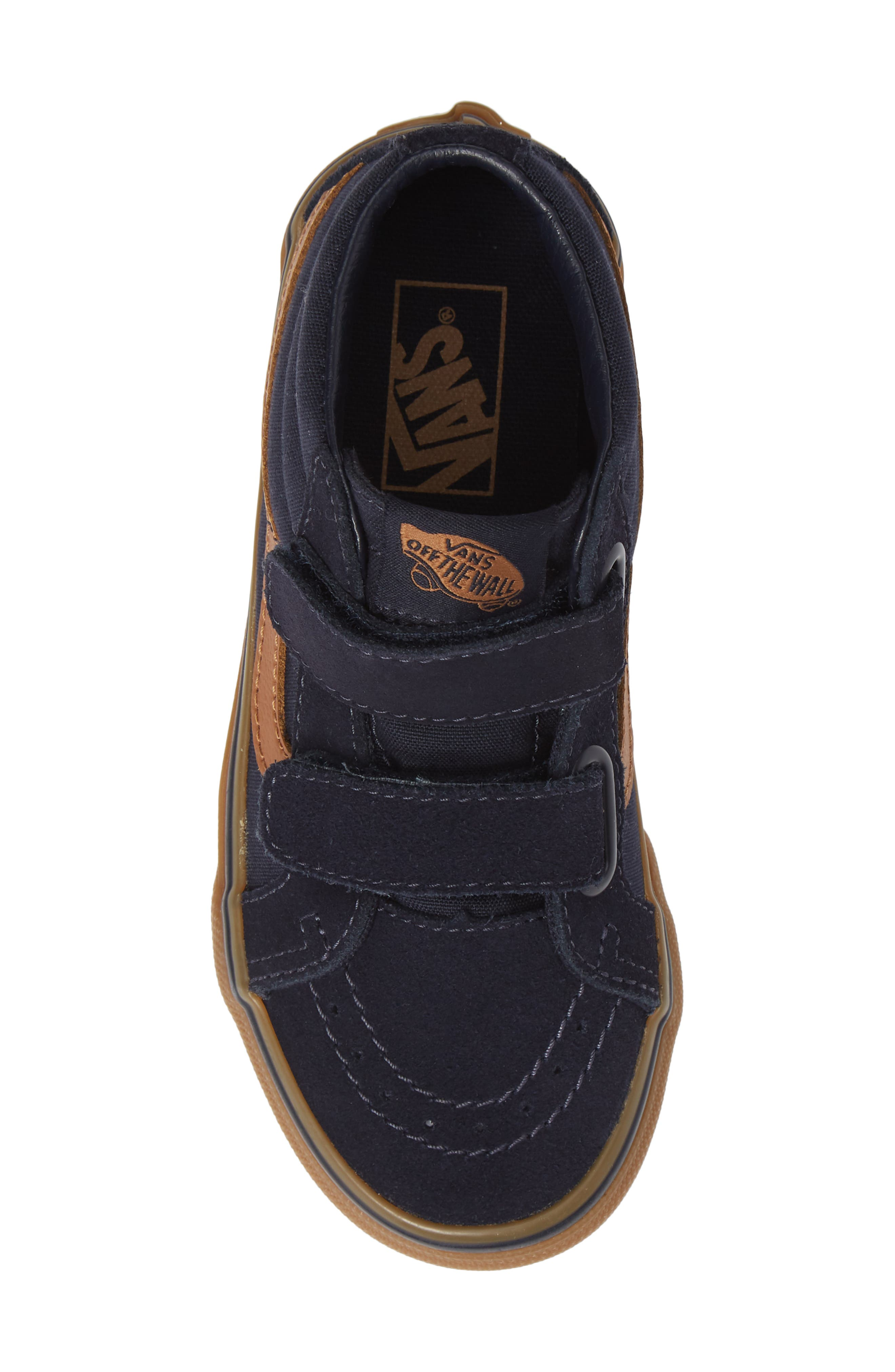 Sk8-Mid Reissue V Sneaker,                             Alternate thumbnail 5, color,                             SKY CAPTAIN/ GUM