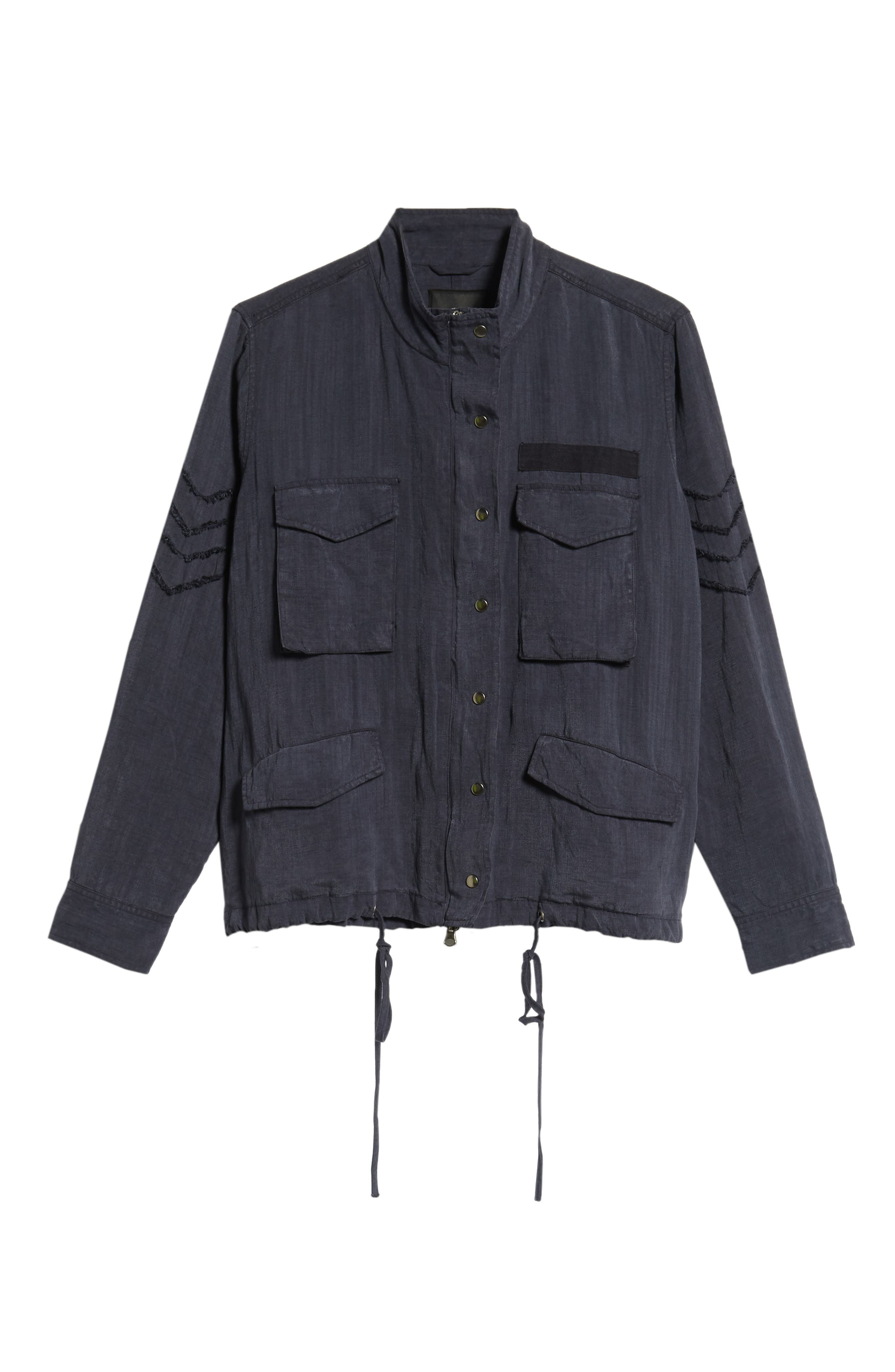 Halifax Drawstring Jacket,                             Alternate thumbnail 6, color,                             NAVY