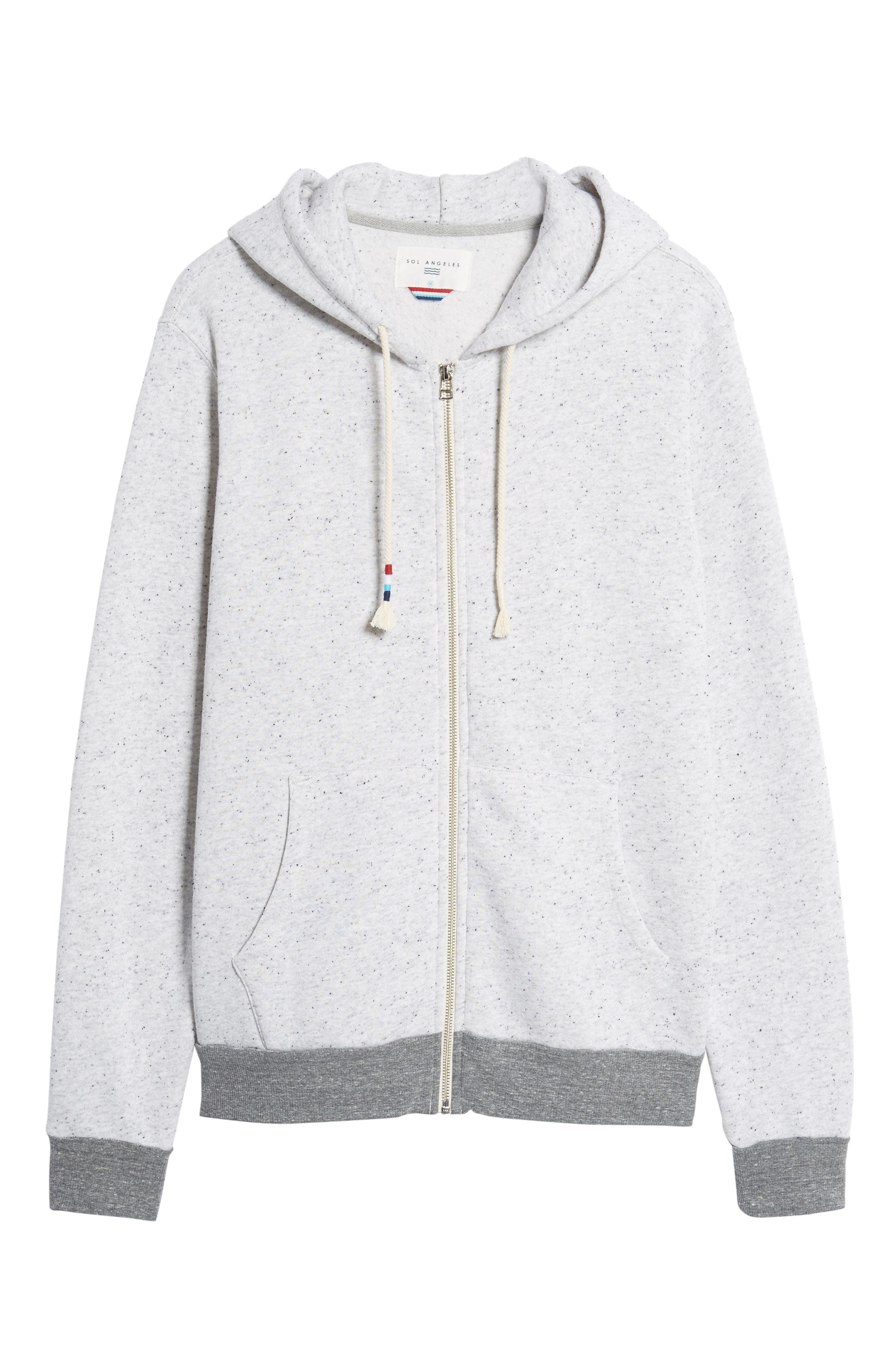 Peppered French Terry Hoodie,                             Alternate thumbnail 6, color,                             050