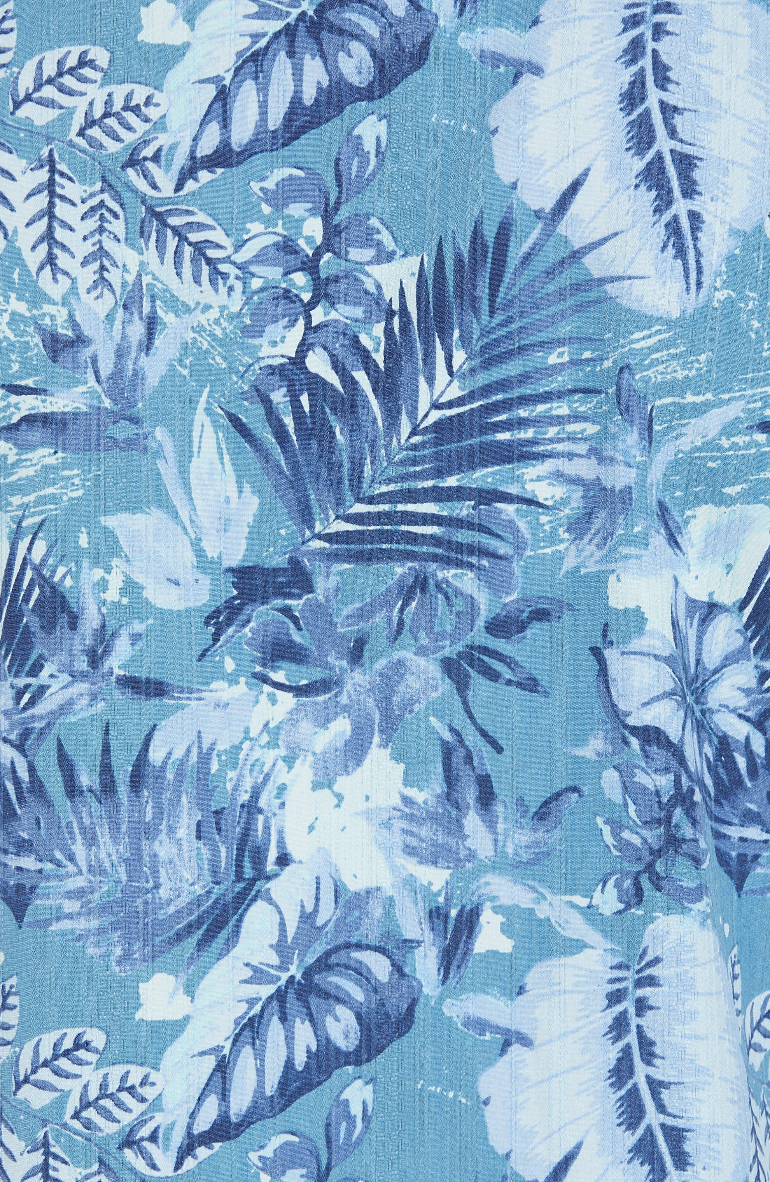 Selva Shores Silk Blend Camp Shirt,                             Alternate thumbnail 5, color,                             400