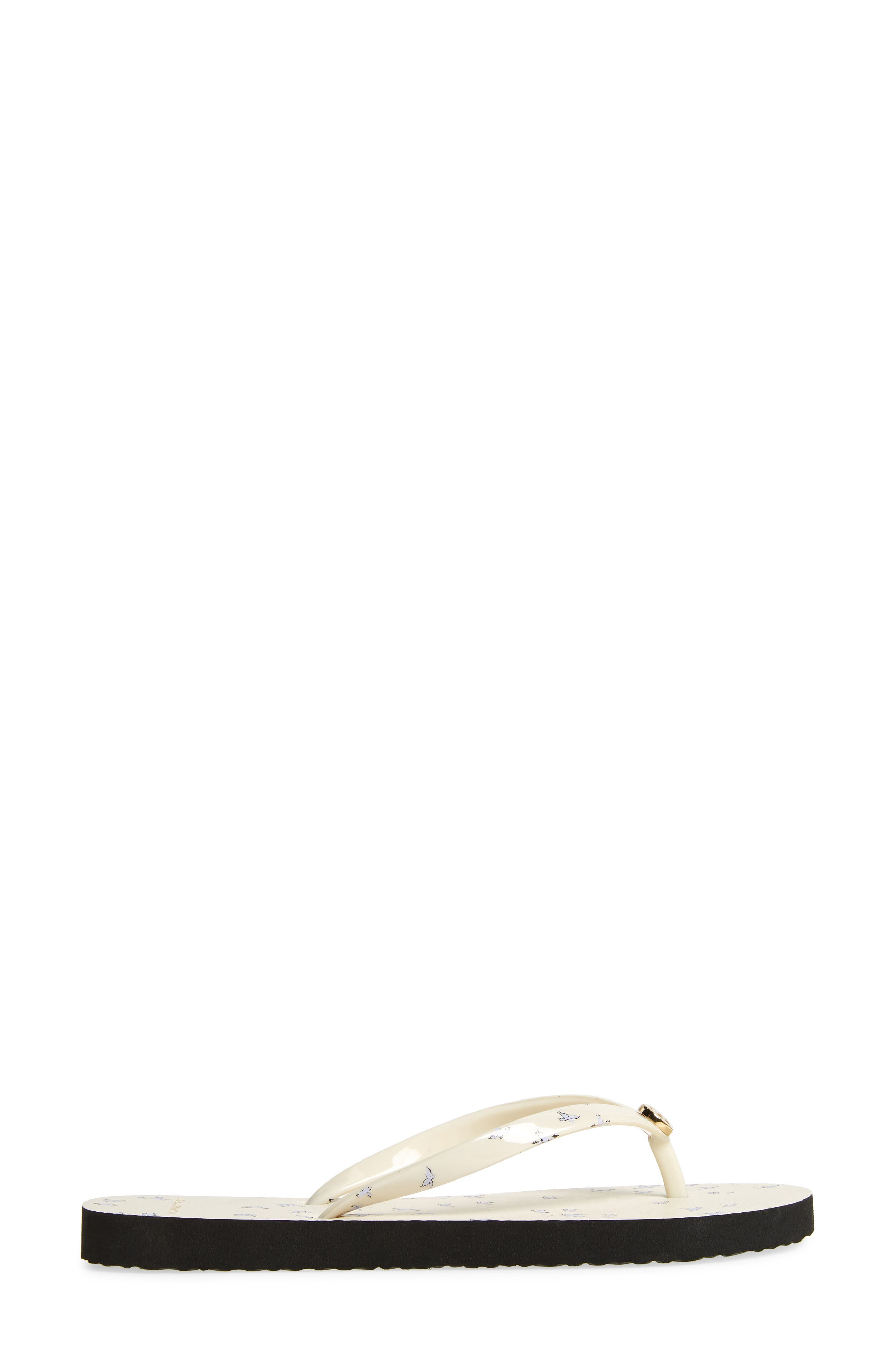 Thin Flip Flop,                             Alternate thumbnail 3, color,                             IVORY EARLY BIRD