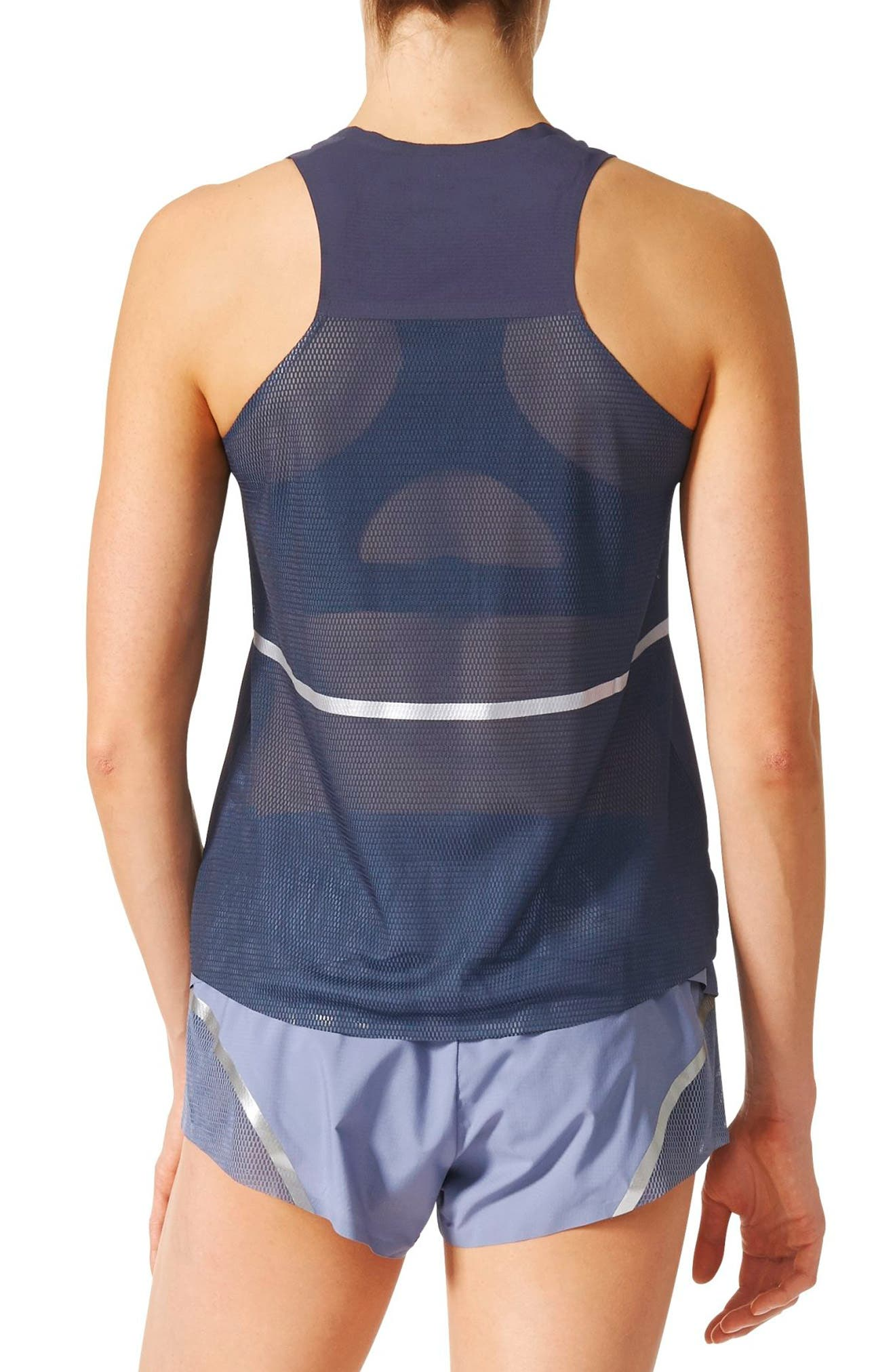 Adizero Running Tank,                             Alternate thumbnail 2, color,                             400