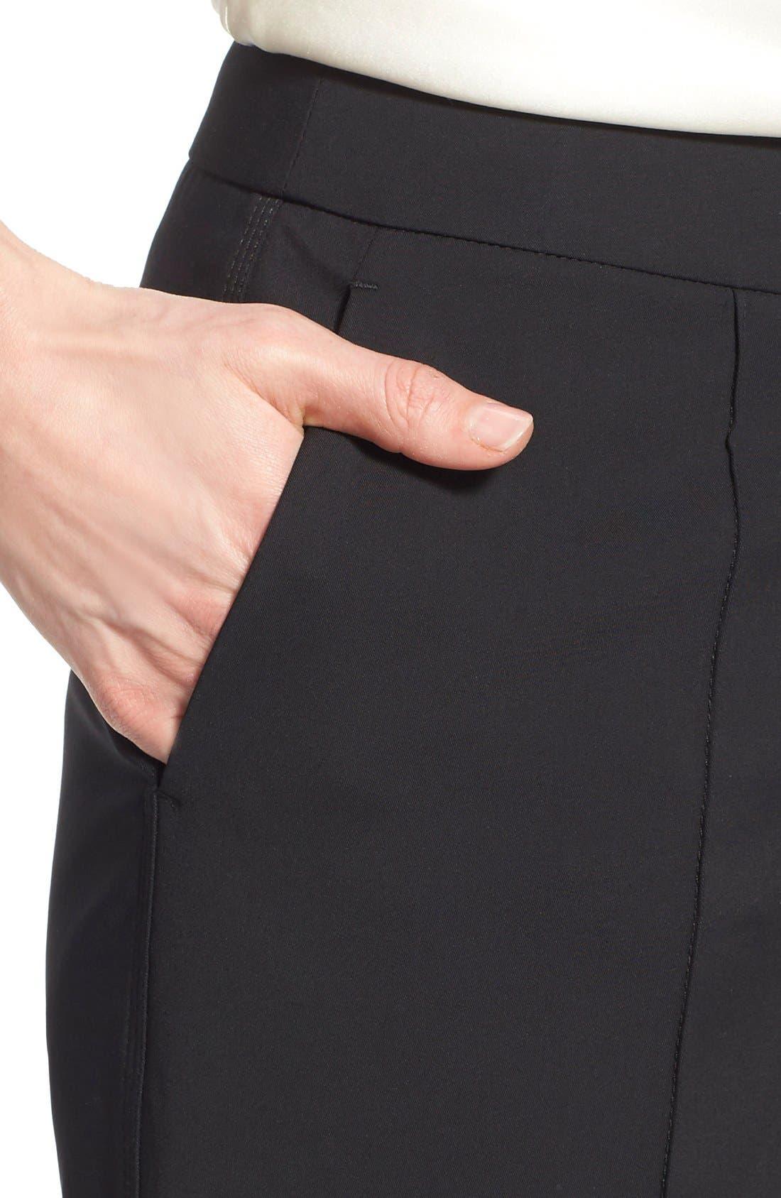 'Kenmare' Flare Leg Pants,                             Alternate thumbnail 5, color,                             BLACK