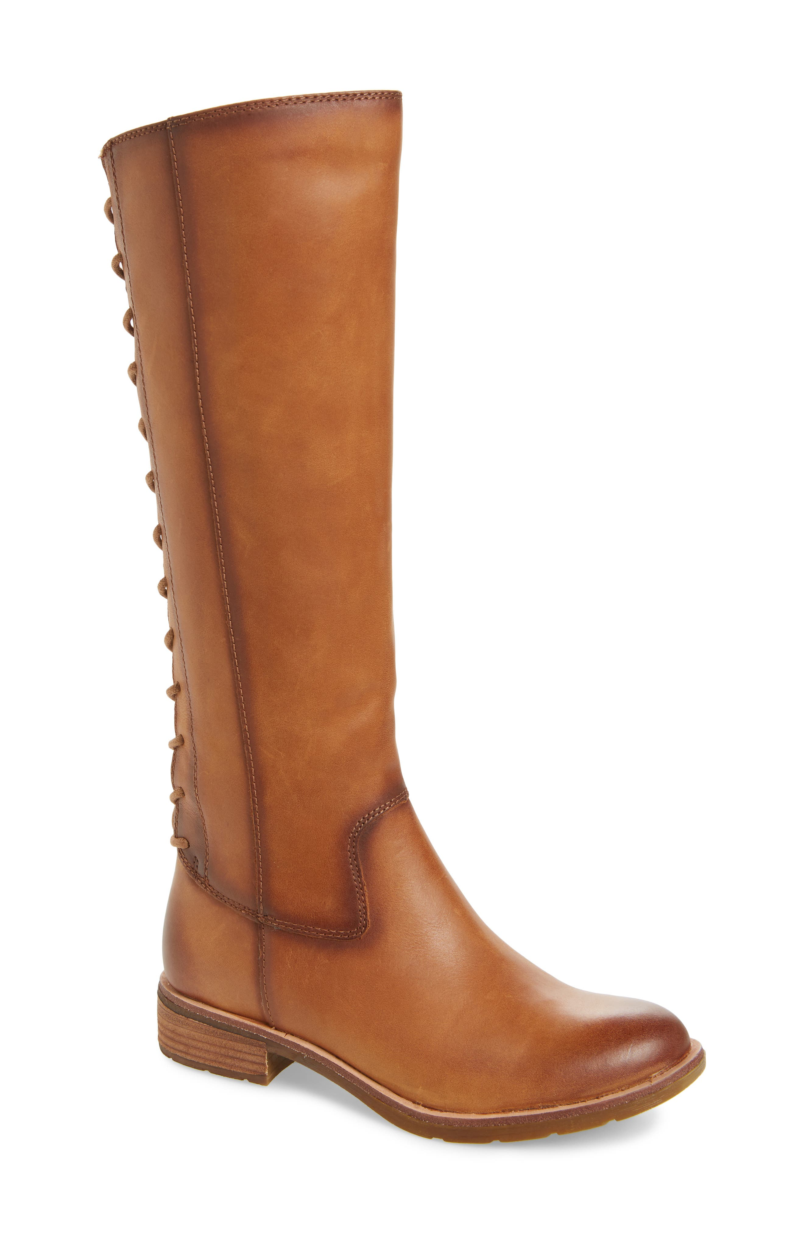 Sharnell II Knee High Boot,                             Main thumbnail 1, color,                             BISCUIT LEATHER