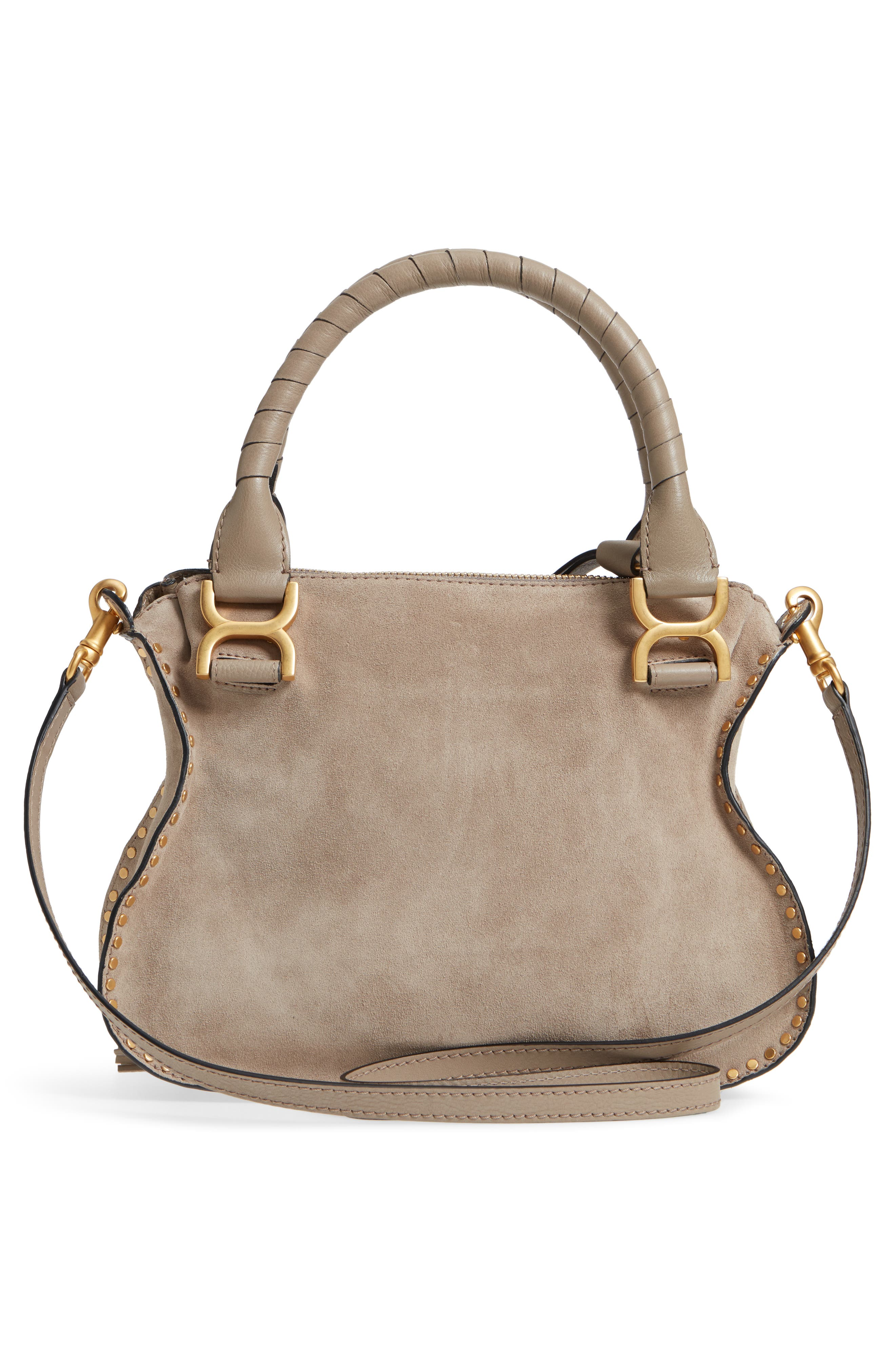 Small Marcie Suede Satchel,                             Alternate thumbnail 3, color,                             020