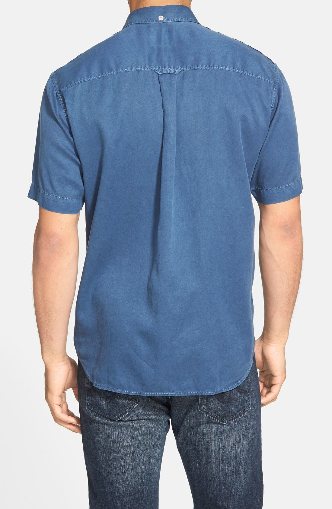 'New Twilly' Island Modern Fit Short Sleeve Twill Shirt,                             Alternate thumbnail 25, color,