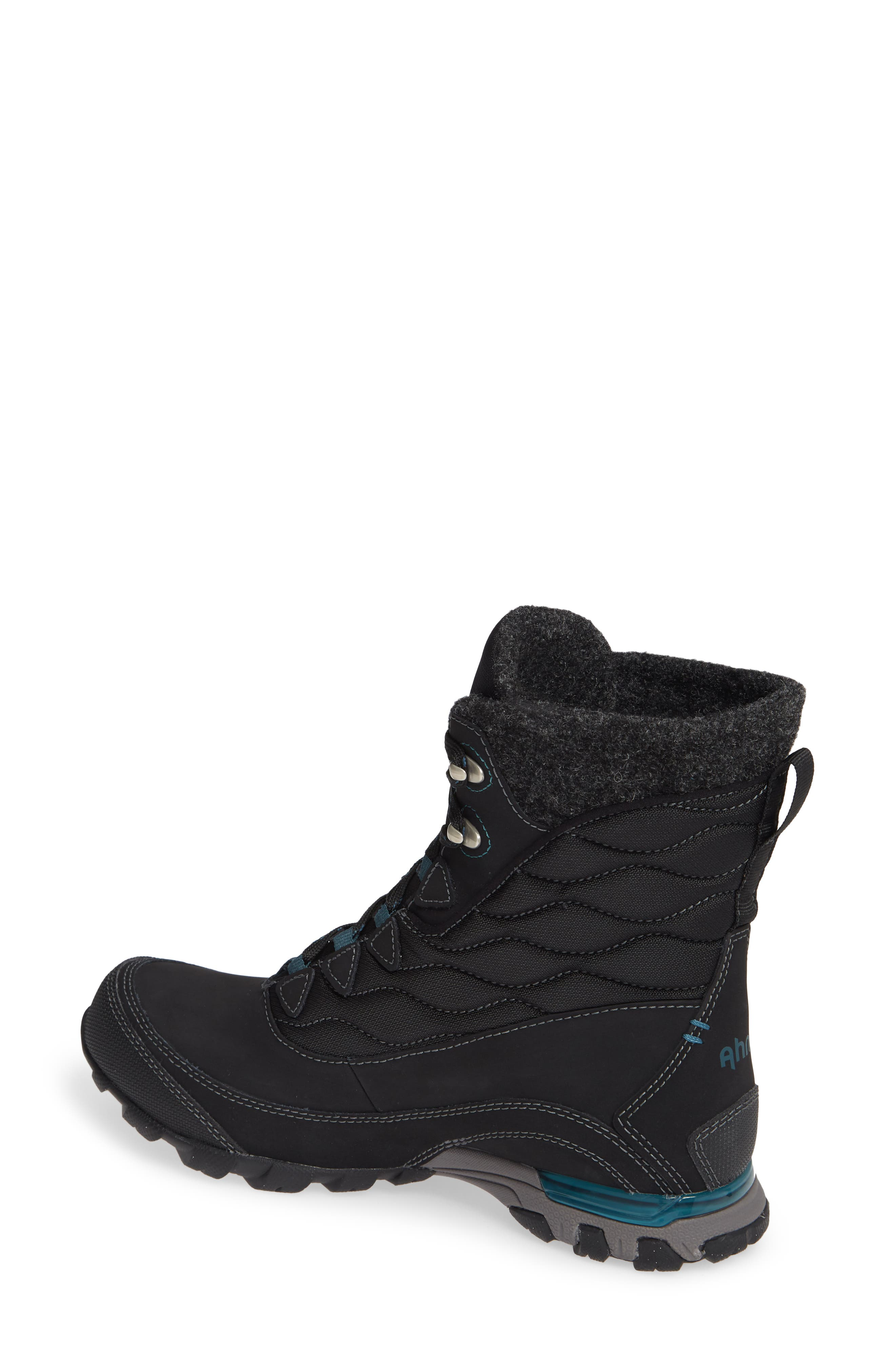 Ahnu by Teva Sugarfrost Insulated Waterproof Boot,                             Alternate thumbnail 2, color,                             BLACK LEATHER