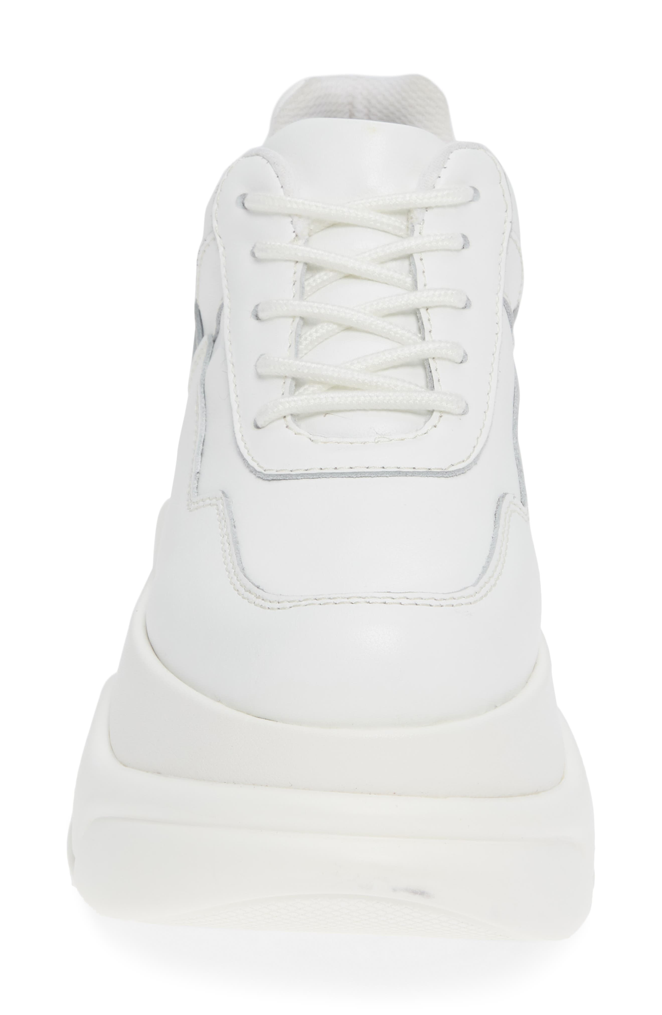 Most Def Wedge Sneaker,                             Alternate thumbnail 4, color,                             WHITE/ WHITE LEATHER