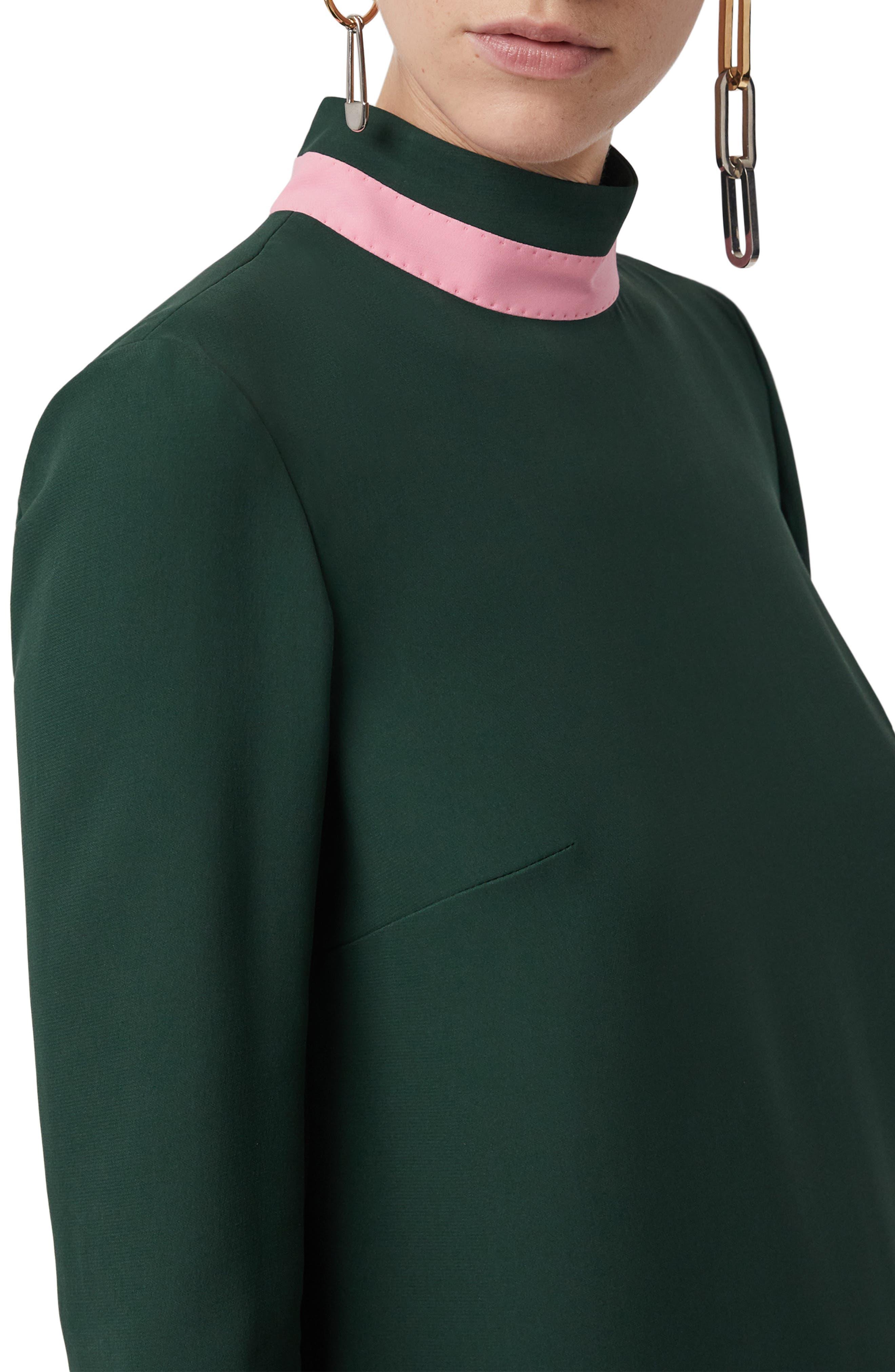 Zoya Two-Tone Shift Dress,                             Alternate thumbnail 4, color,                             301