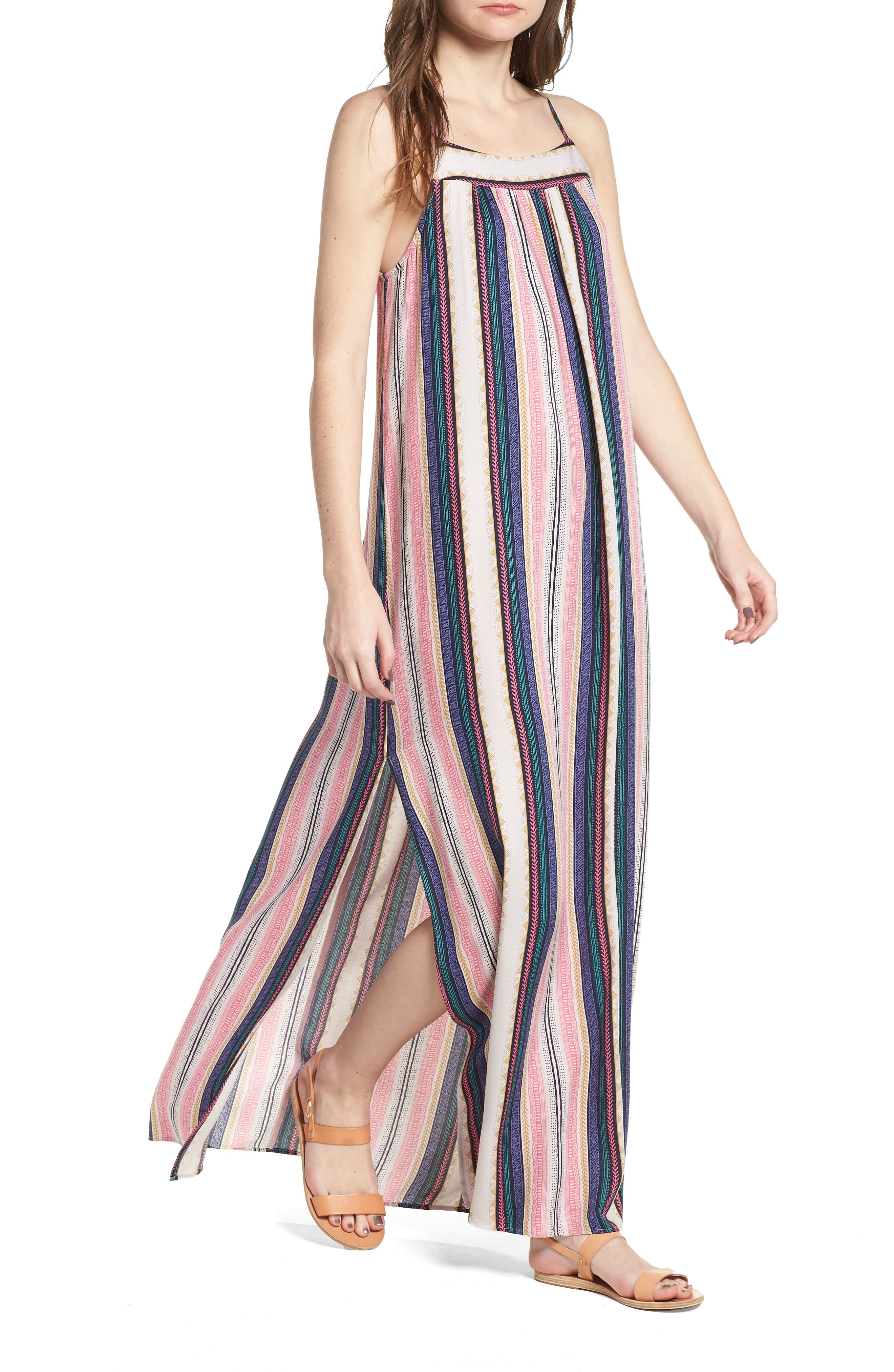 ONE CLOTHING Stripe Maxi Dress, Main, color, 650
