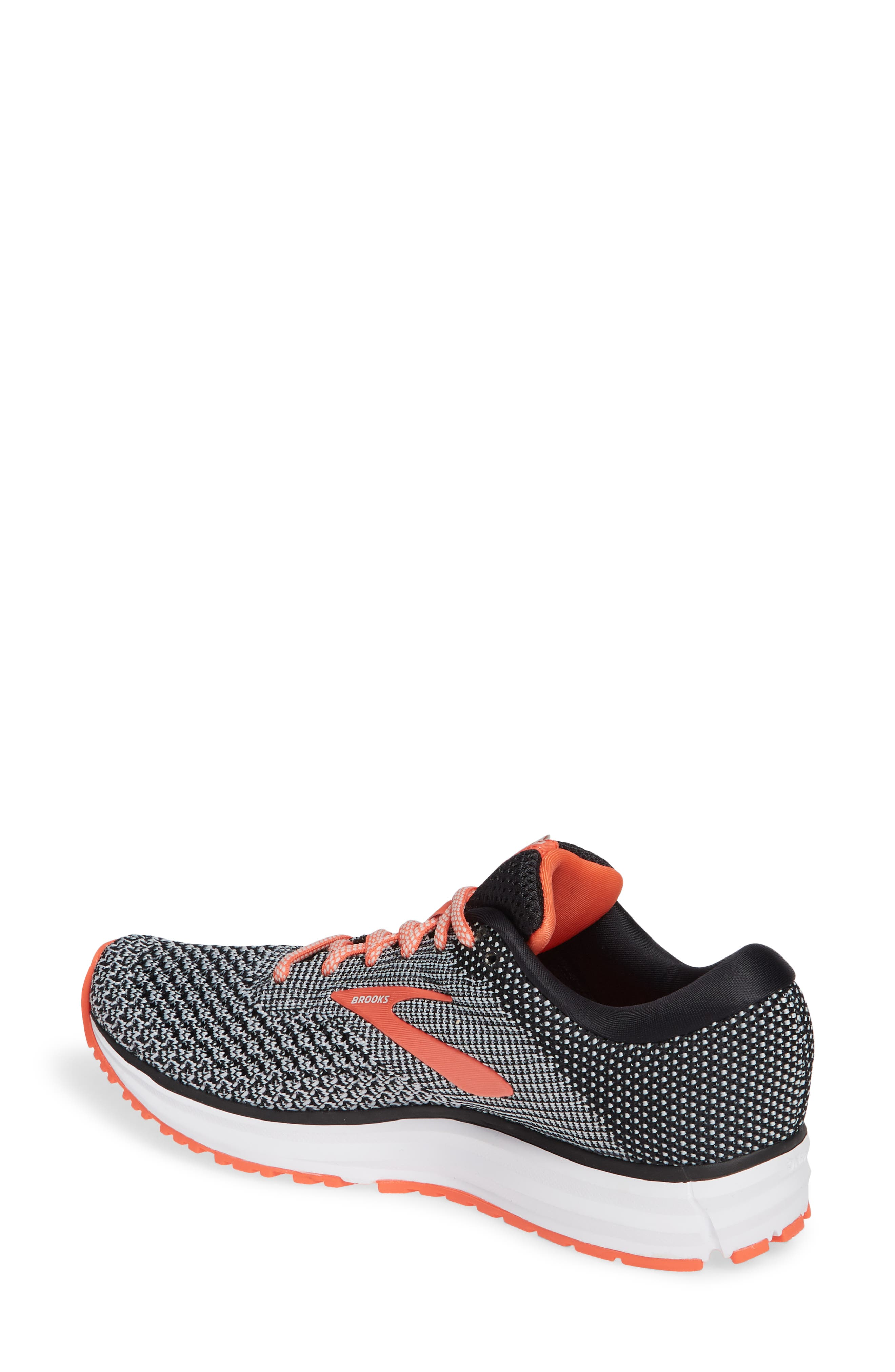 Revel 2 Running Shoe,                             Alternate thumbnail 2, color,                             BLACK/ LIGHT GREY/ CORAL
