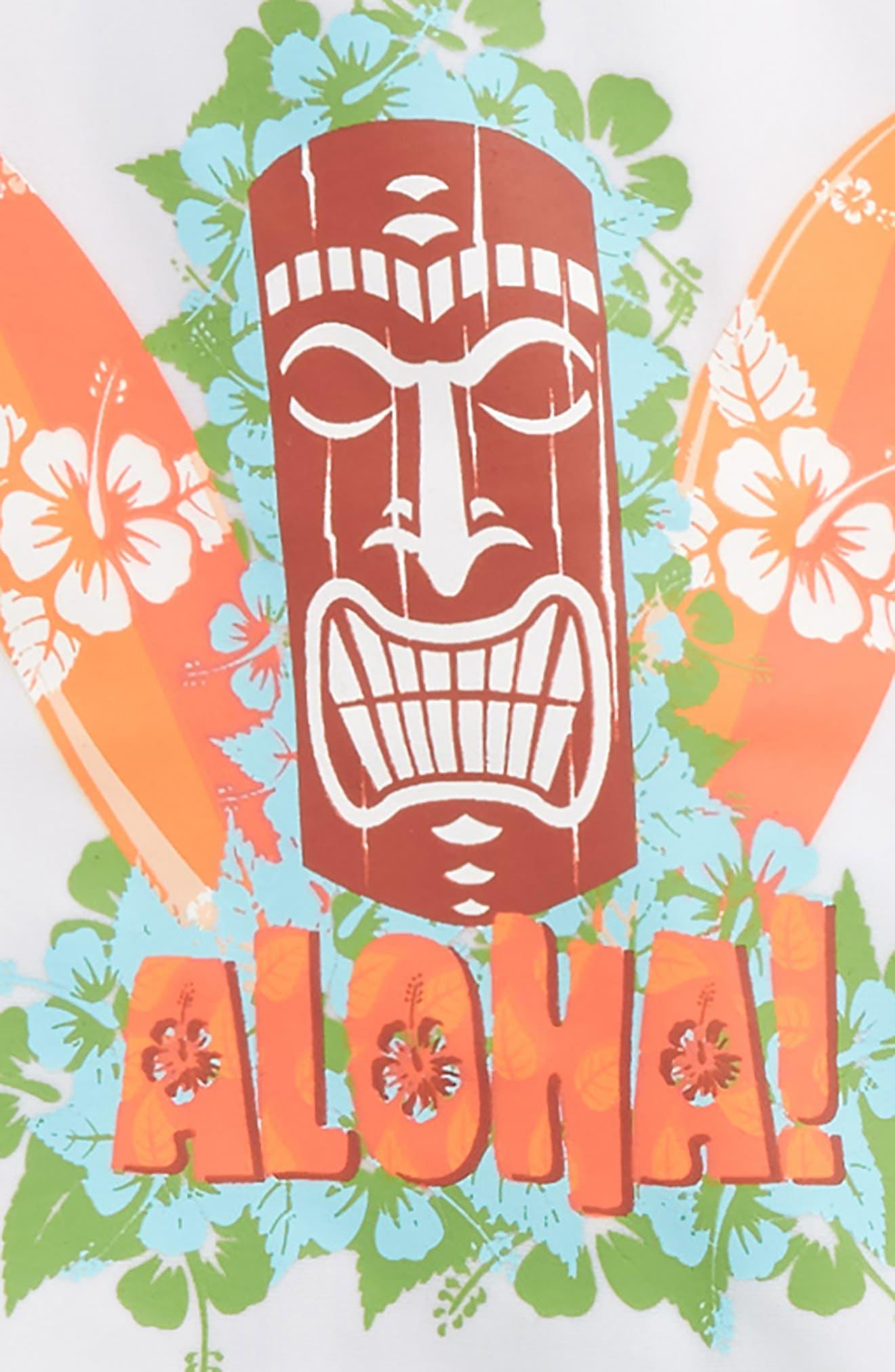 Aloha Tiki Two-Piece Rashguard Swimsuit,                             Alternate thumbnail 2, color,                             109