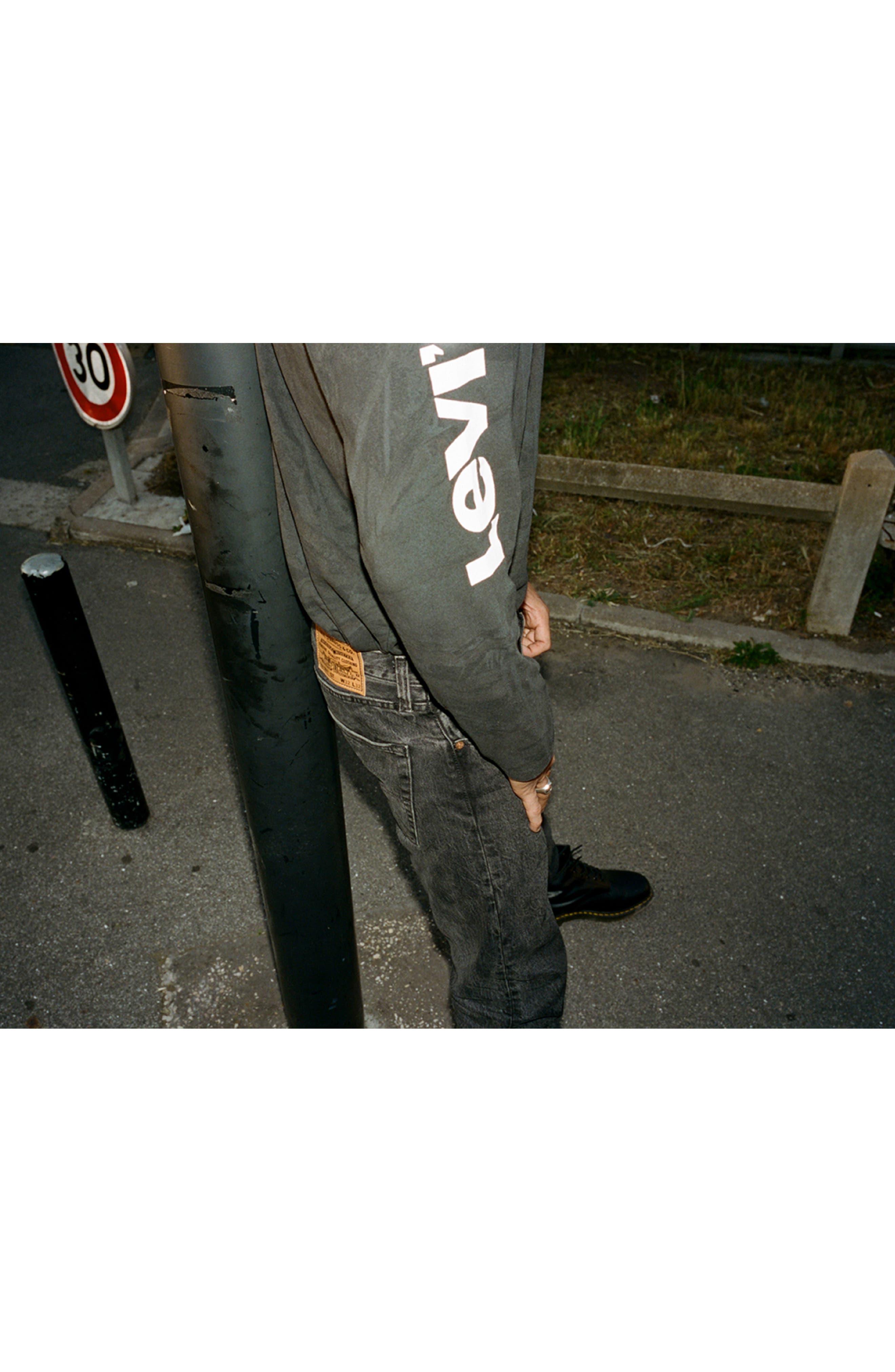 x Justin Timberlake 501<sup>®</sup> Slim Taper Jeans,                             Alternate thumbnail 10, color,                             WASHED BLACK