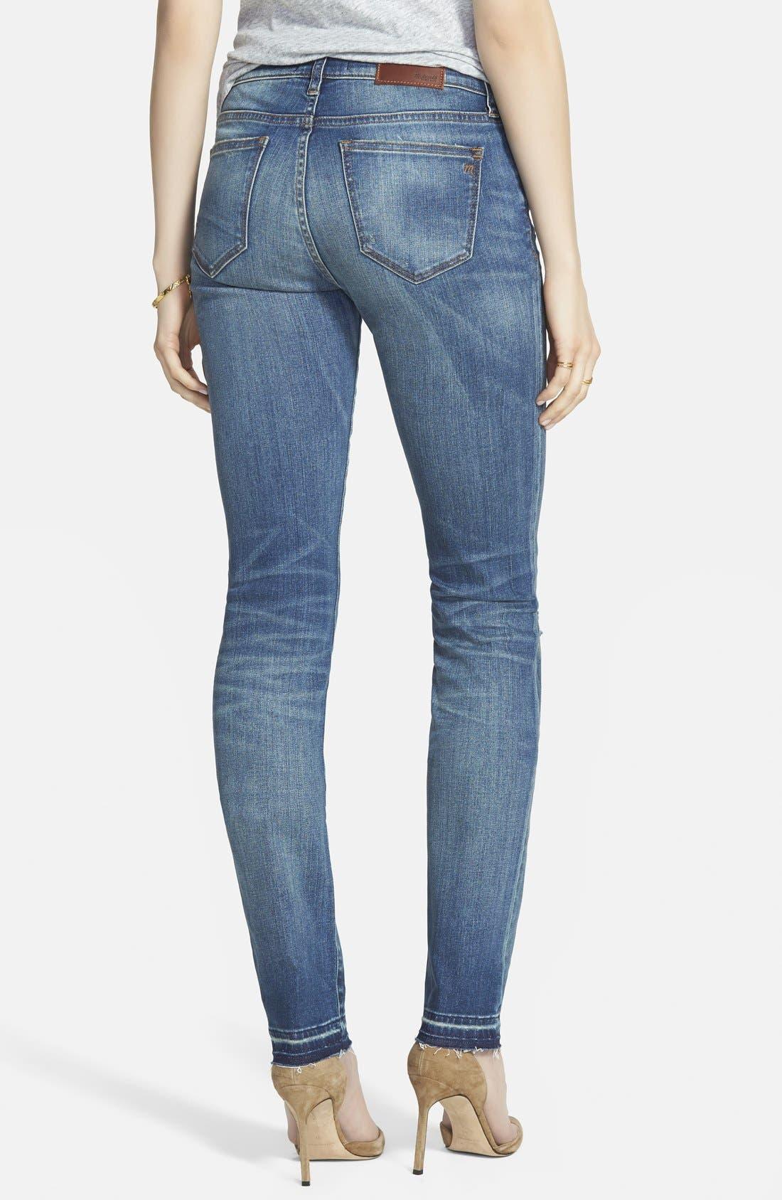 'Alley' Straight Leg Jeans,                             Alternate thumbnail 4, color,                             400