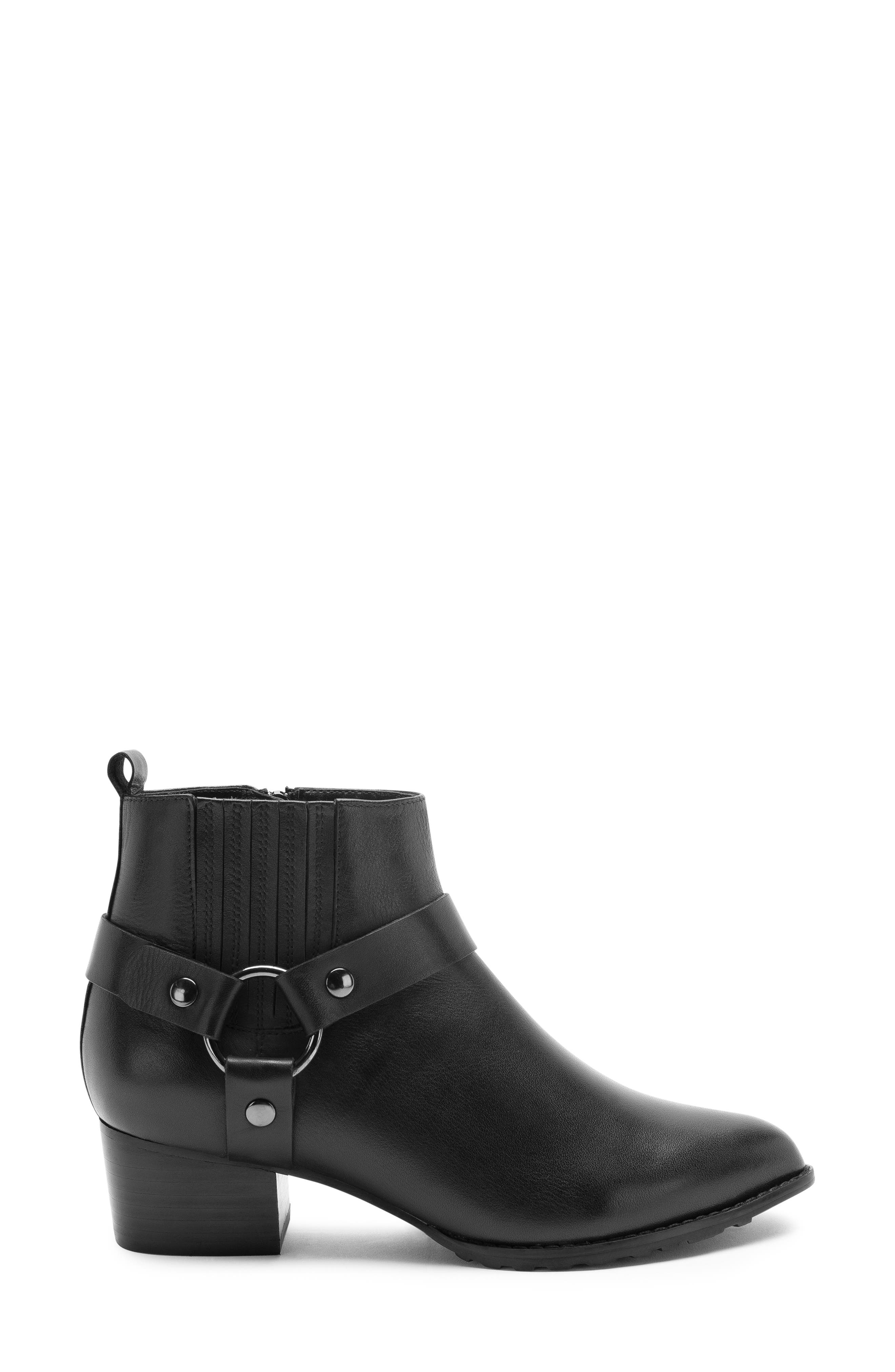Tasha Waterproof Bootie,                             Alternate thumbnail 3, color,                             BLACK LEATHER