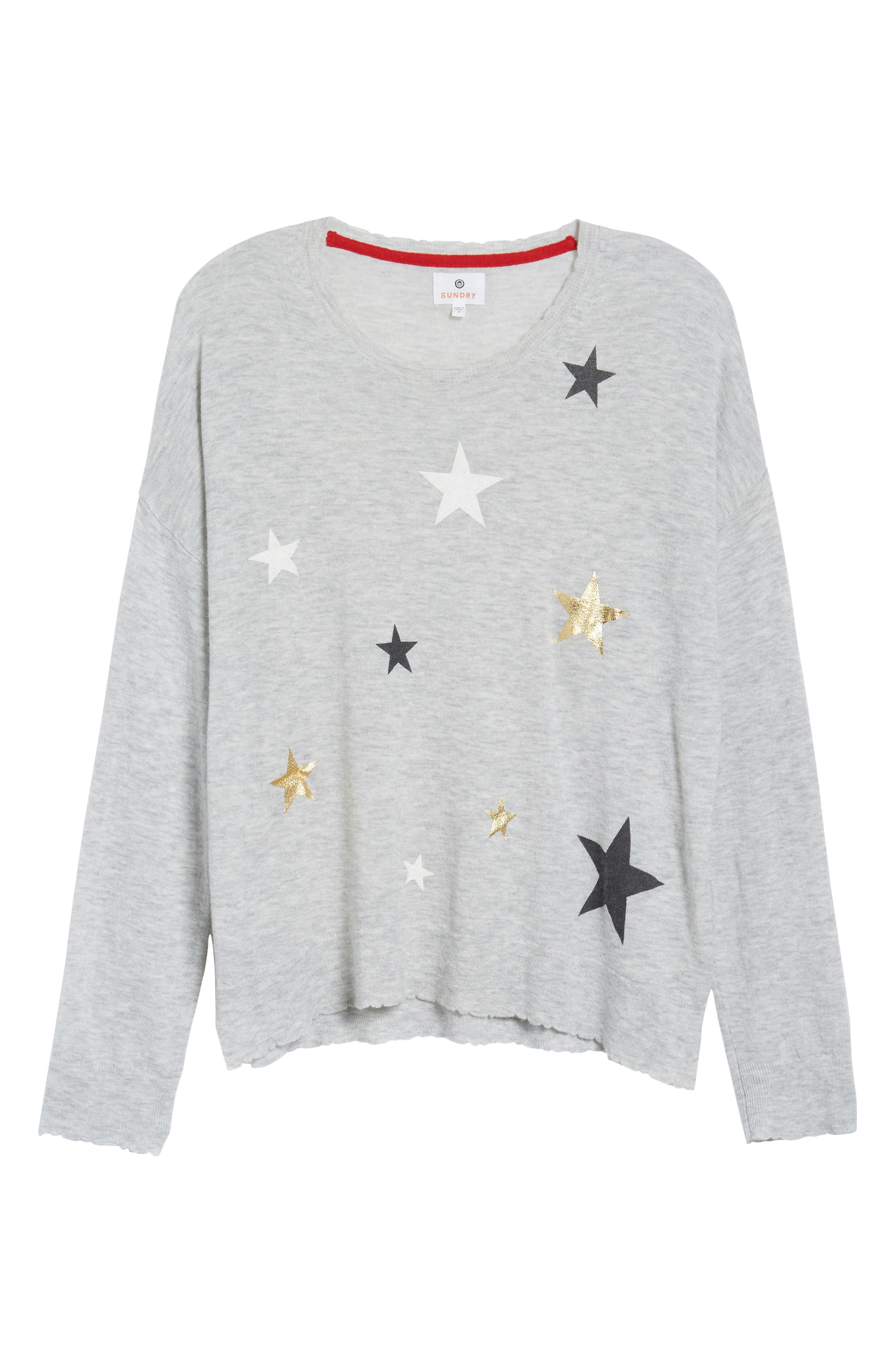 Stars Wool & Cashmere Sweater,                             Alternate thumbnail 6, color,