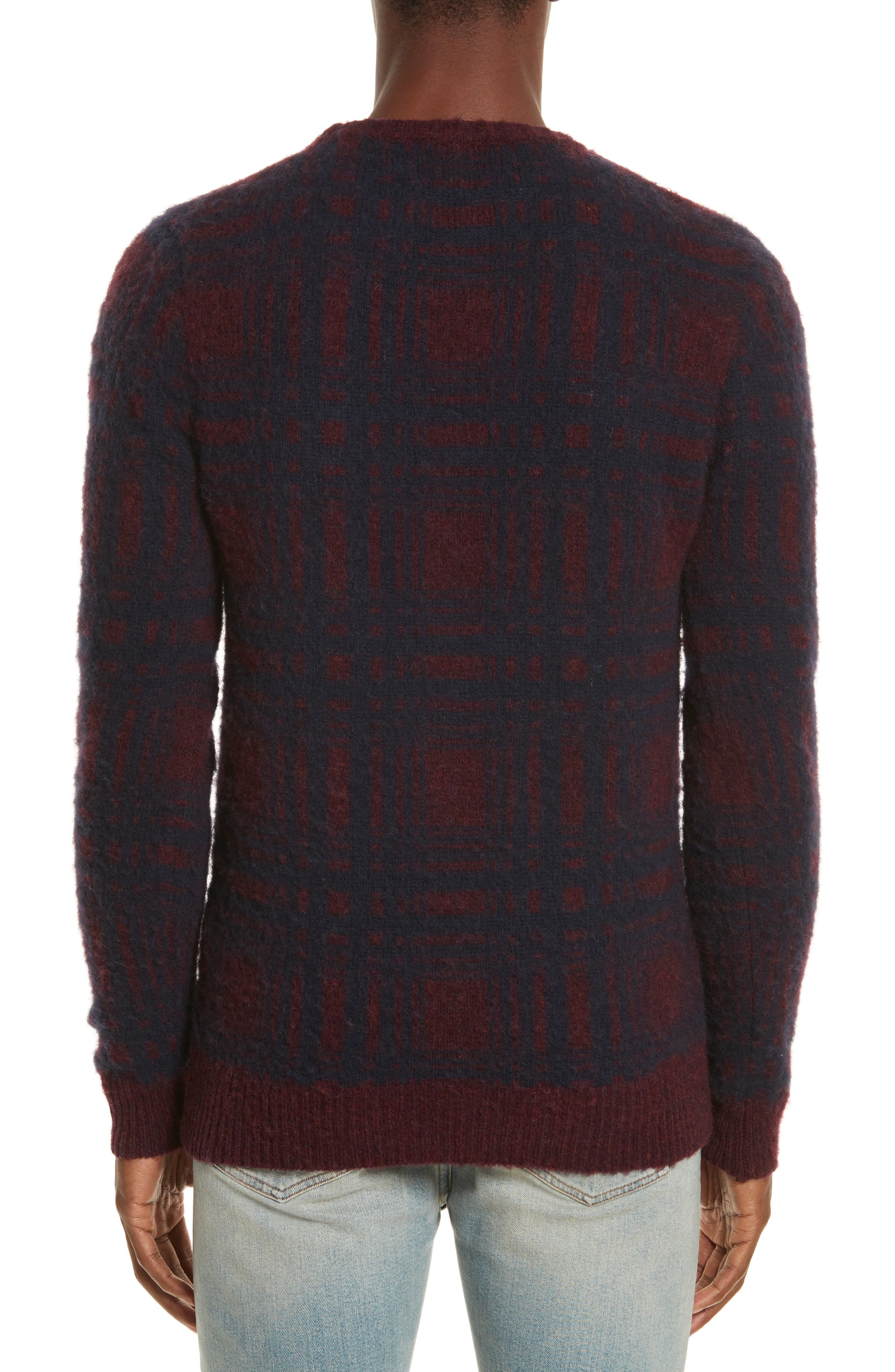 Sam Intarsia Check Wool Sweater,                             Alternate thumbnail 2, color,                             606