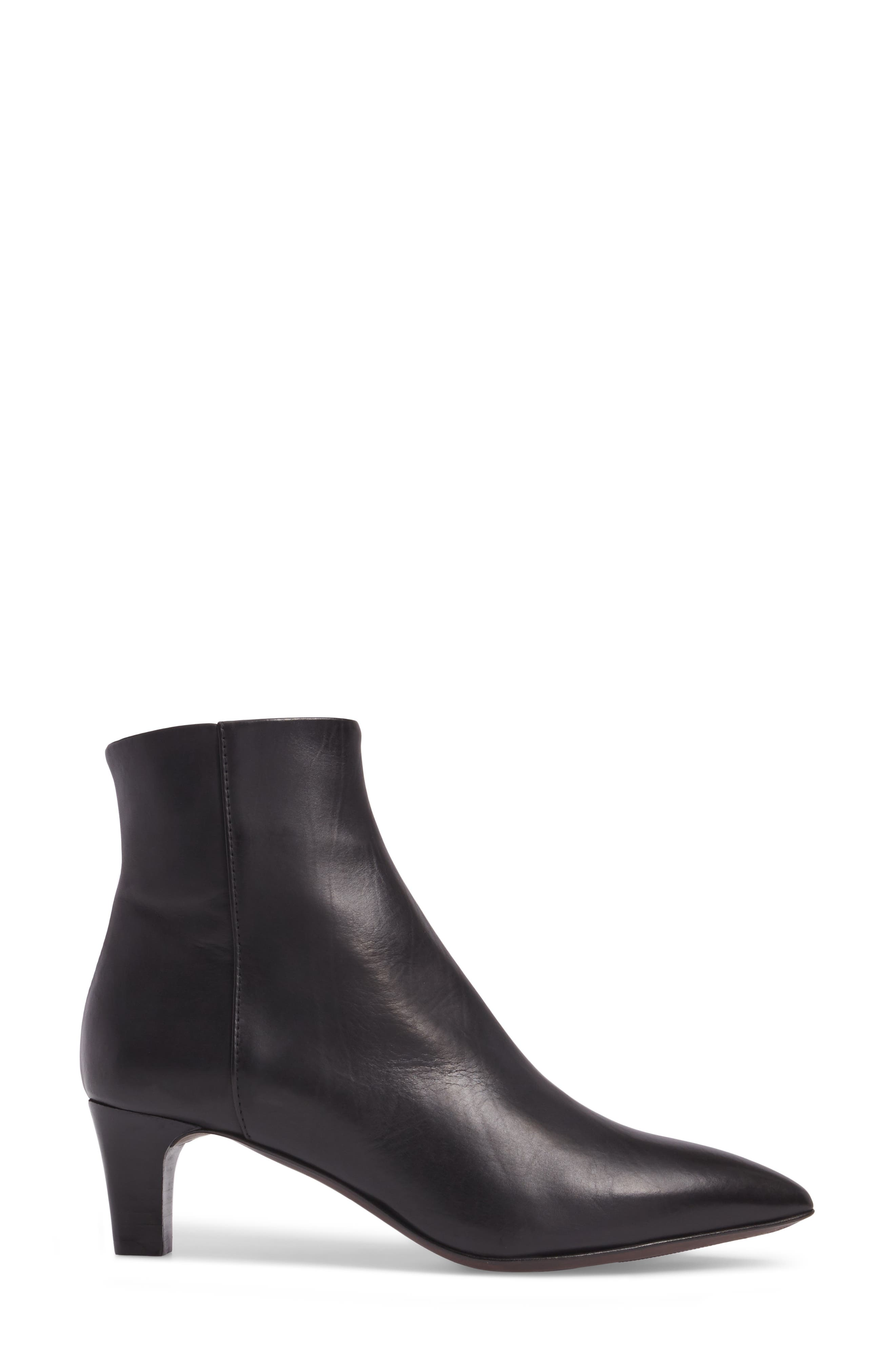 AG Pointed Toe Bootie,                             Alternate thumbnail 3, color,                             001