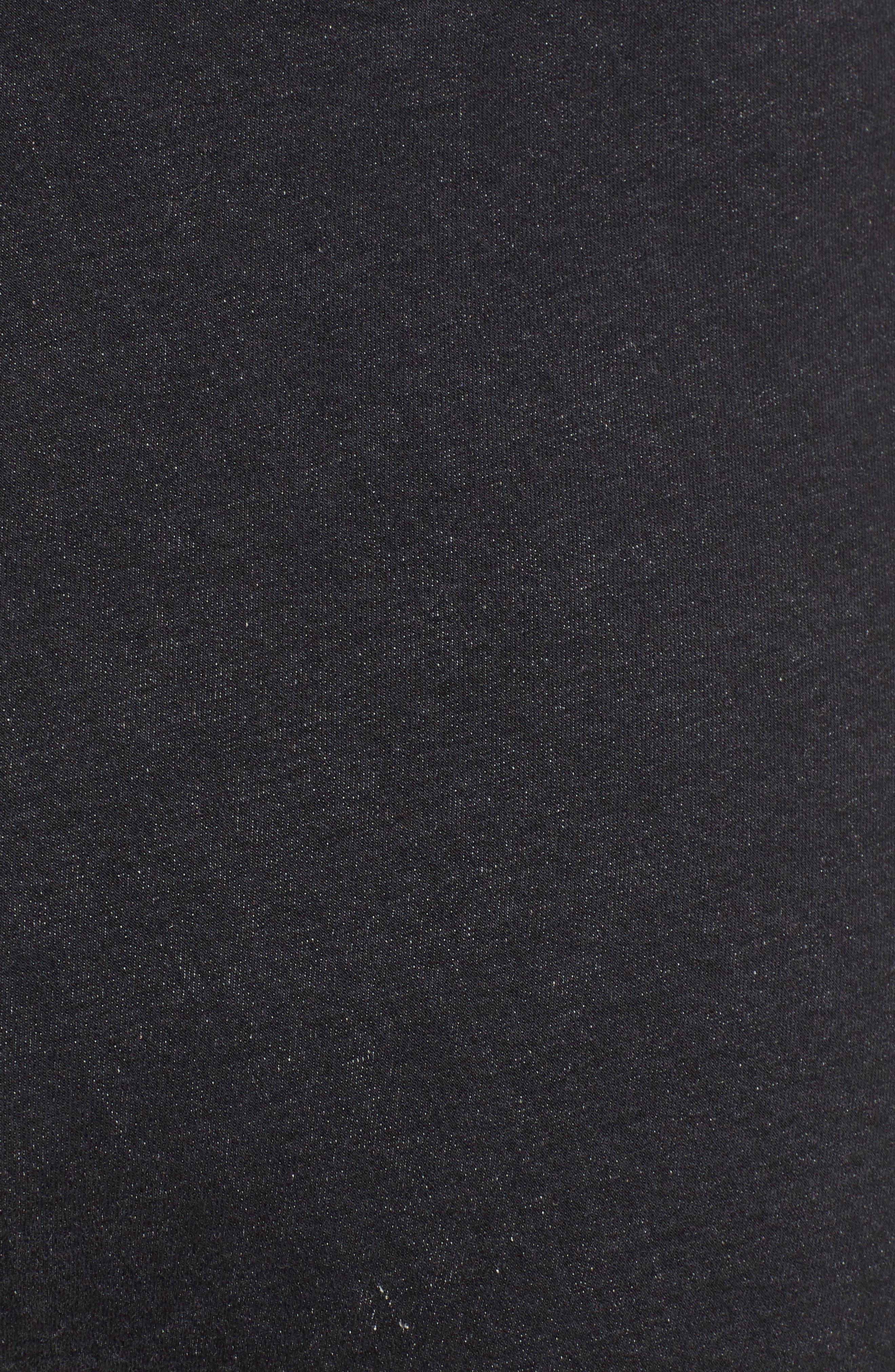 Studded High Waist Denim Leggings,                             Alternate thumbnail 6, color,                             DARK GREY WASH