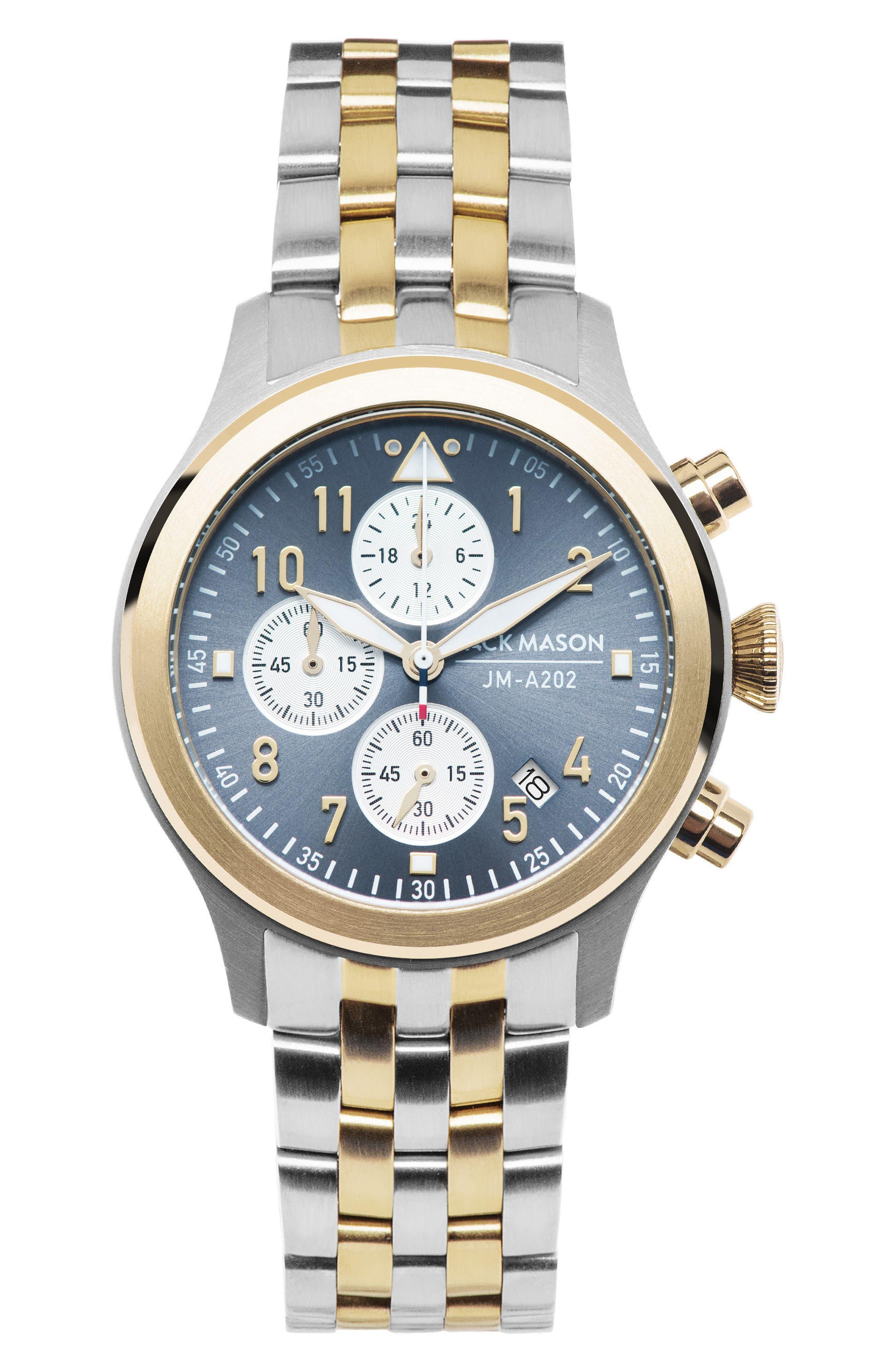 Aviation Chronograph Bracelet Watch, 36mm,                             Main thumbnail 1, color,                             040