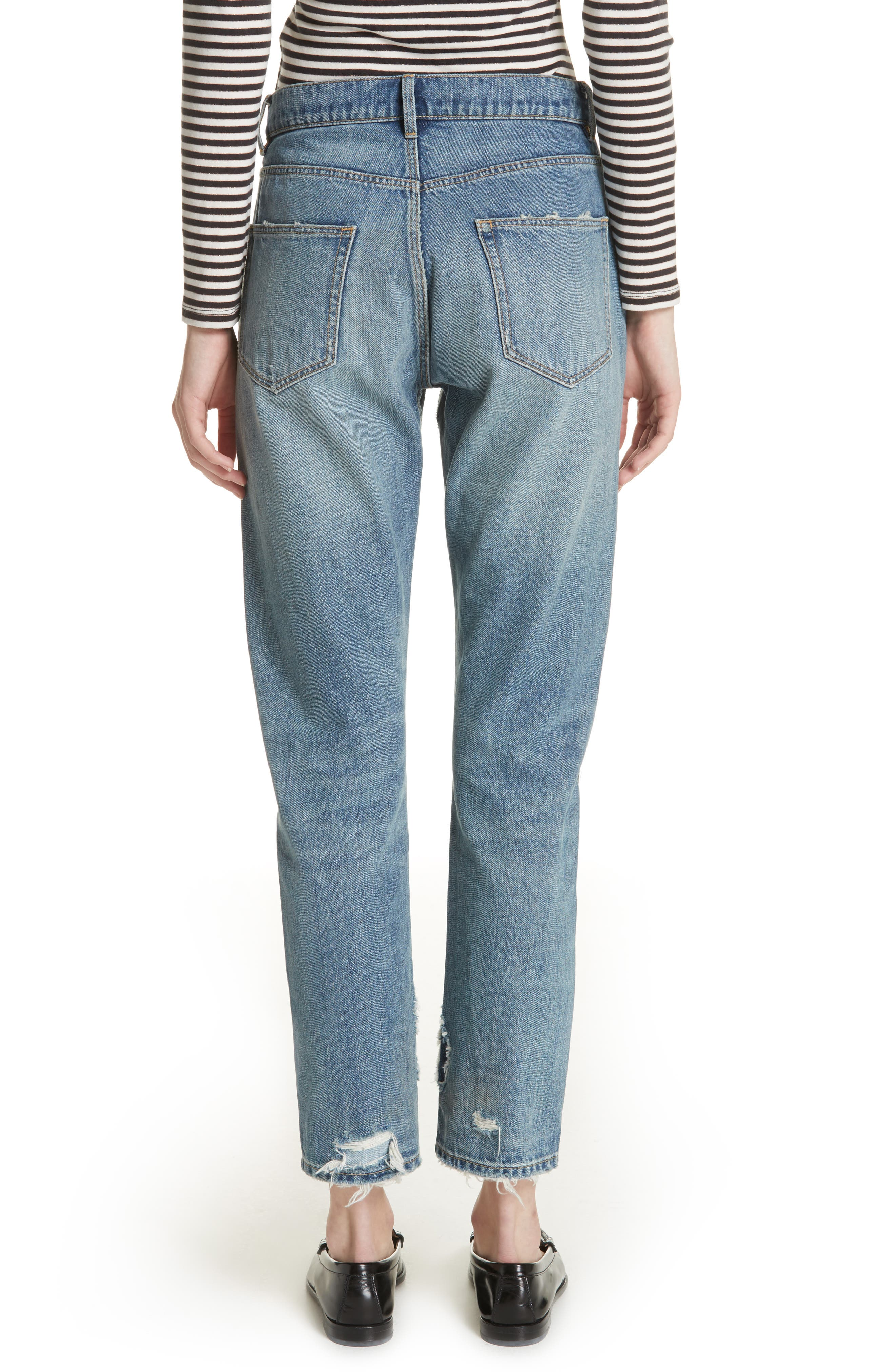 Patched Velvet & Rigid Denim Jeans,                             Alternate thumbnail 2, color,