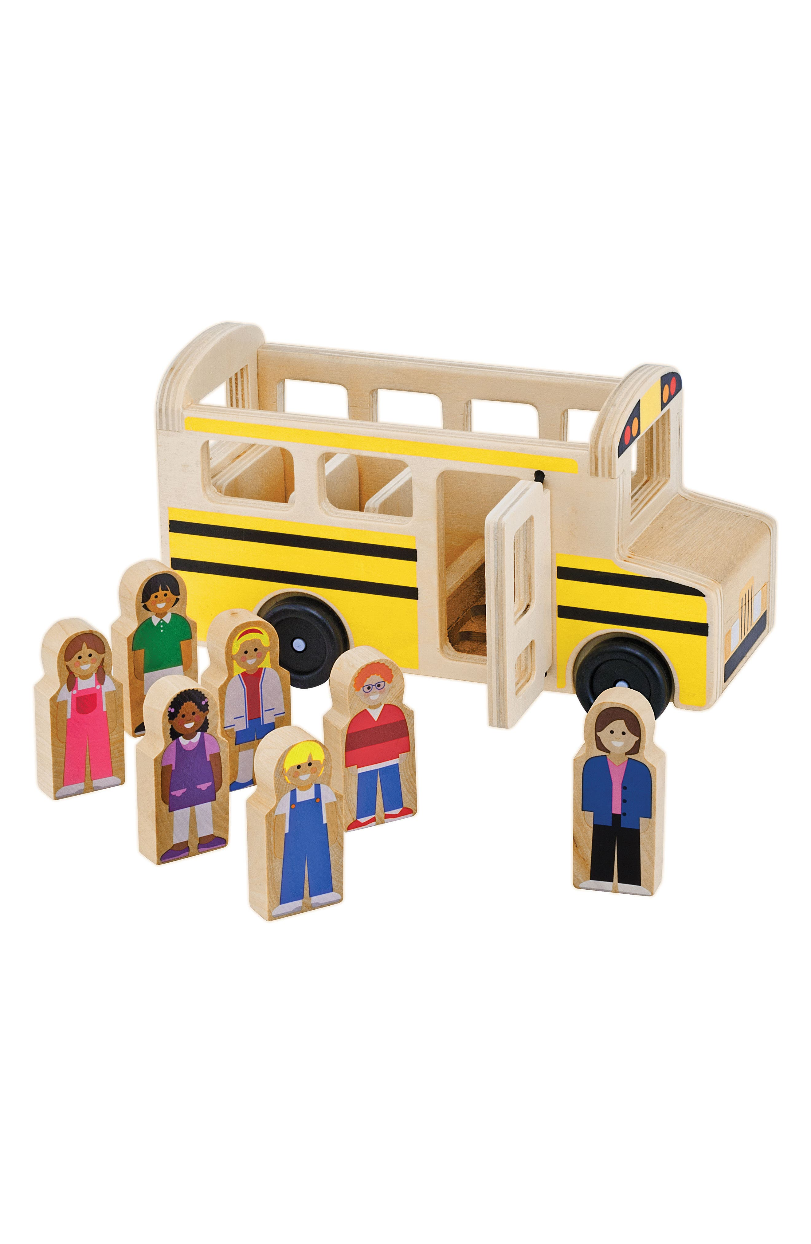 Classic School Bus Wooden Play Set,                             Main thumbnail 1, color,                             YELLOW