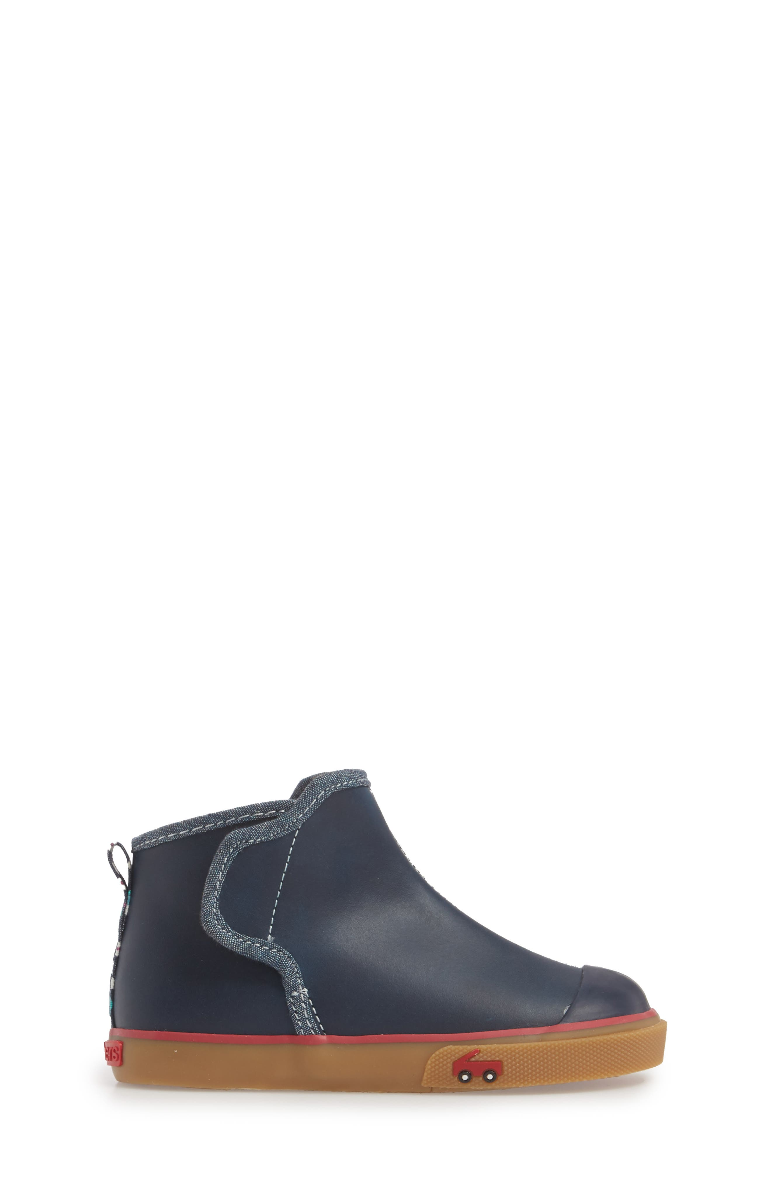 Mia Boot,                             Alternate thumbnail 3, color,                             NAVY LEATHER