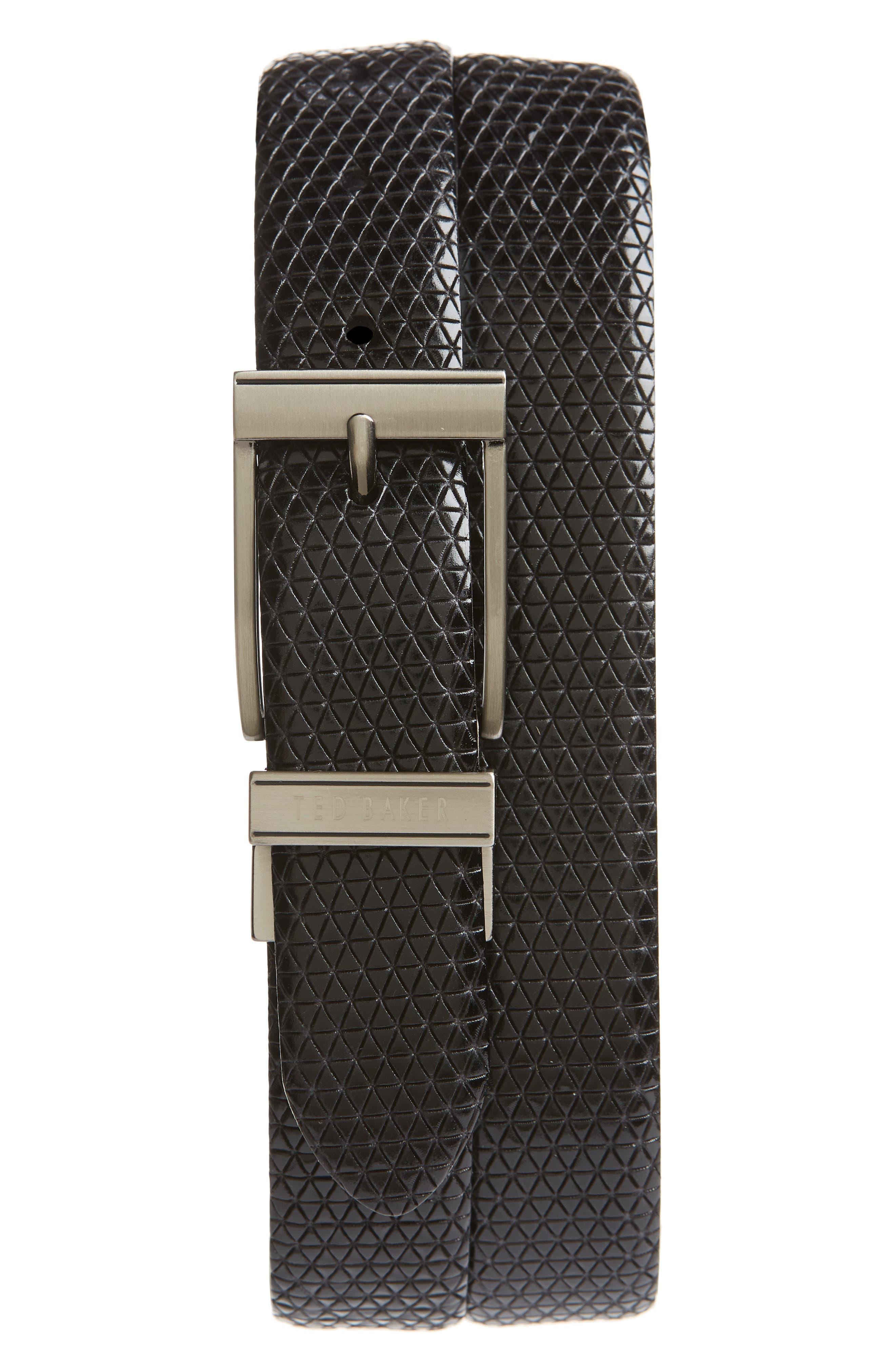 Tatti Reversible Leather Belt,                         Main,                         color, BLACK