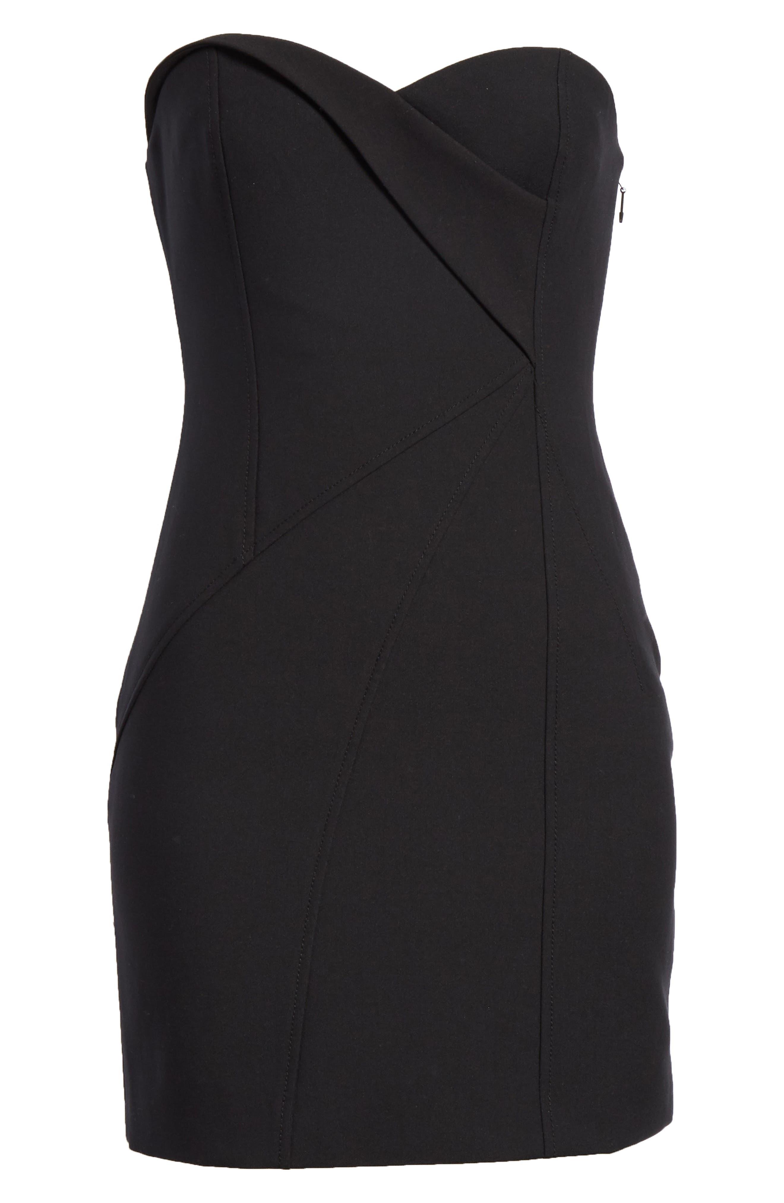 Tristen Strapless Dress,                             Alternate thumbnail 6, color,                             001