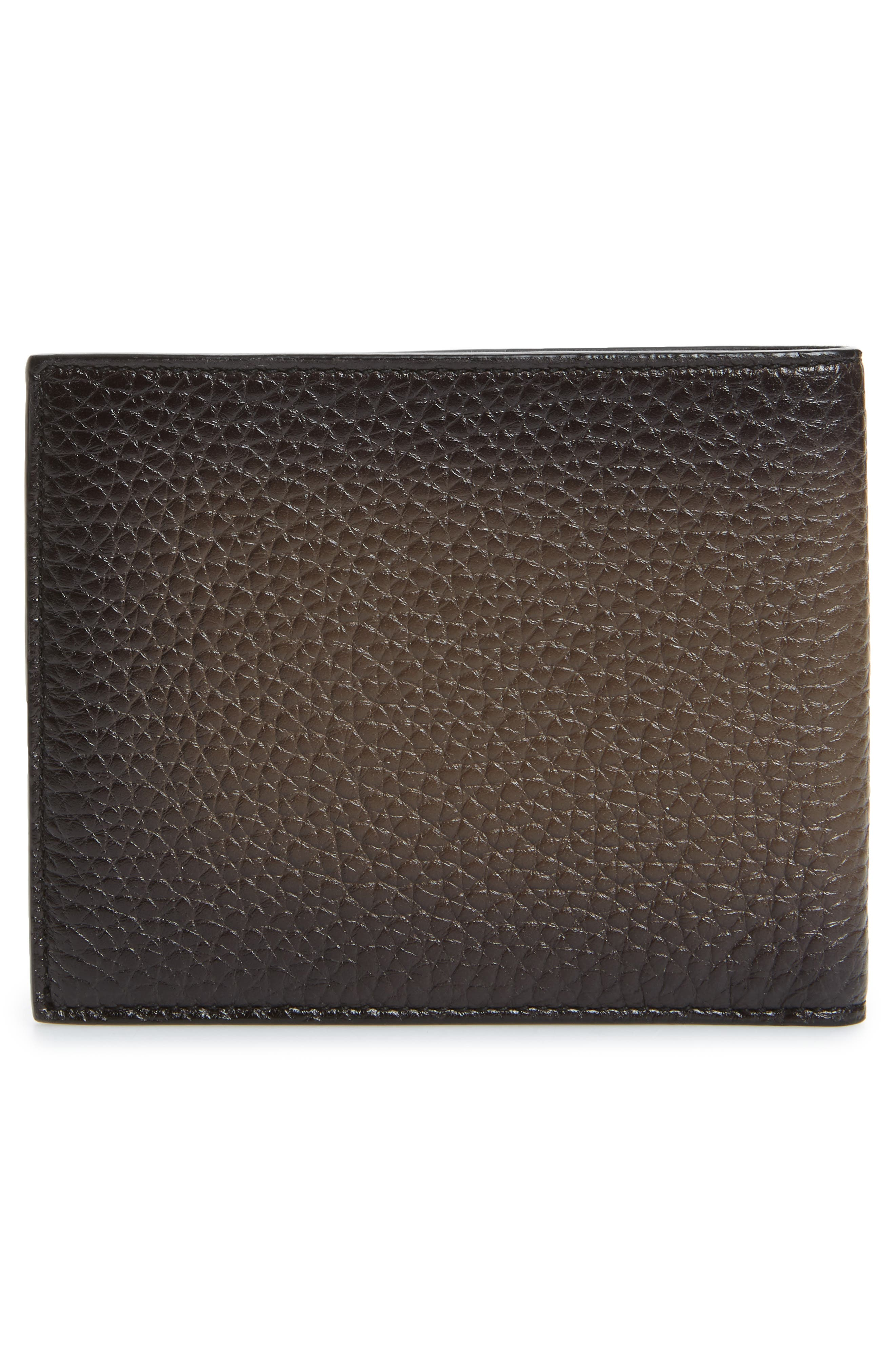 Glow Leather Wallet,                             Alternate thumbnail 3, color,