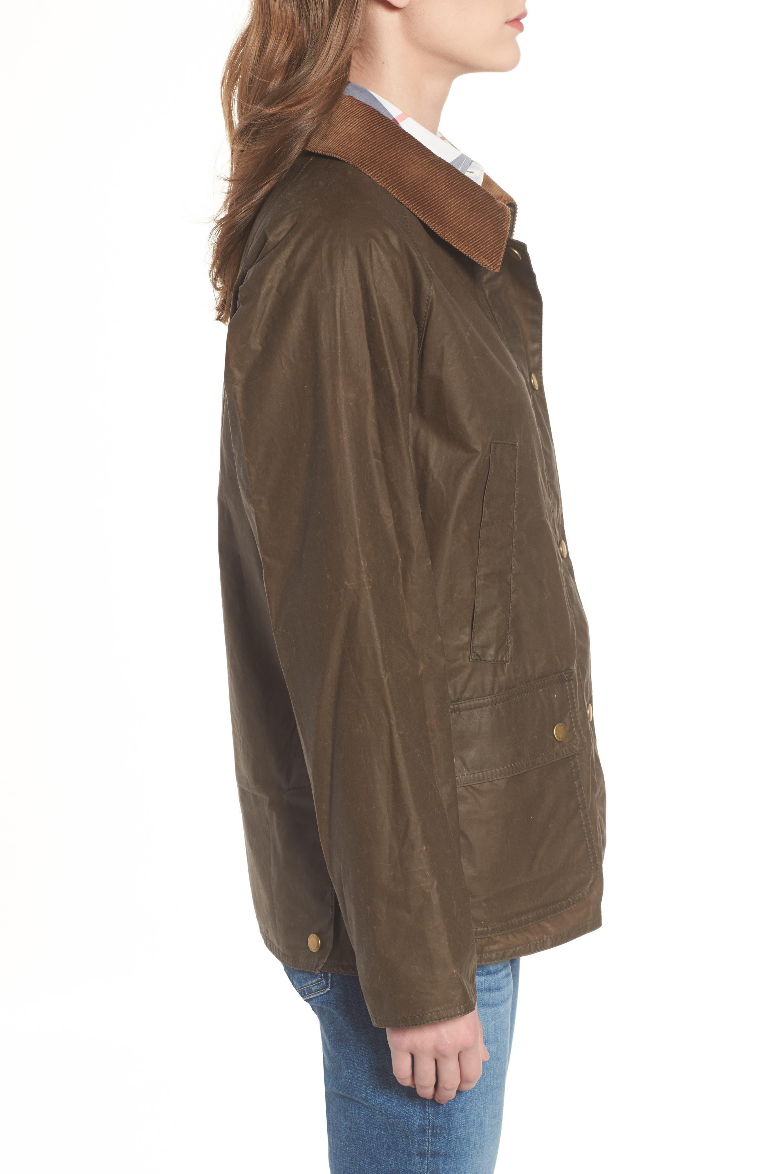 Acorn Water Resistant Waxed Cotton Jacket,                             Alternate thumbnail 3, color,                             230