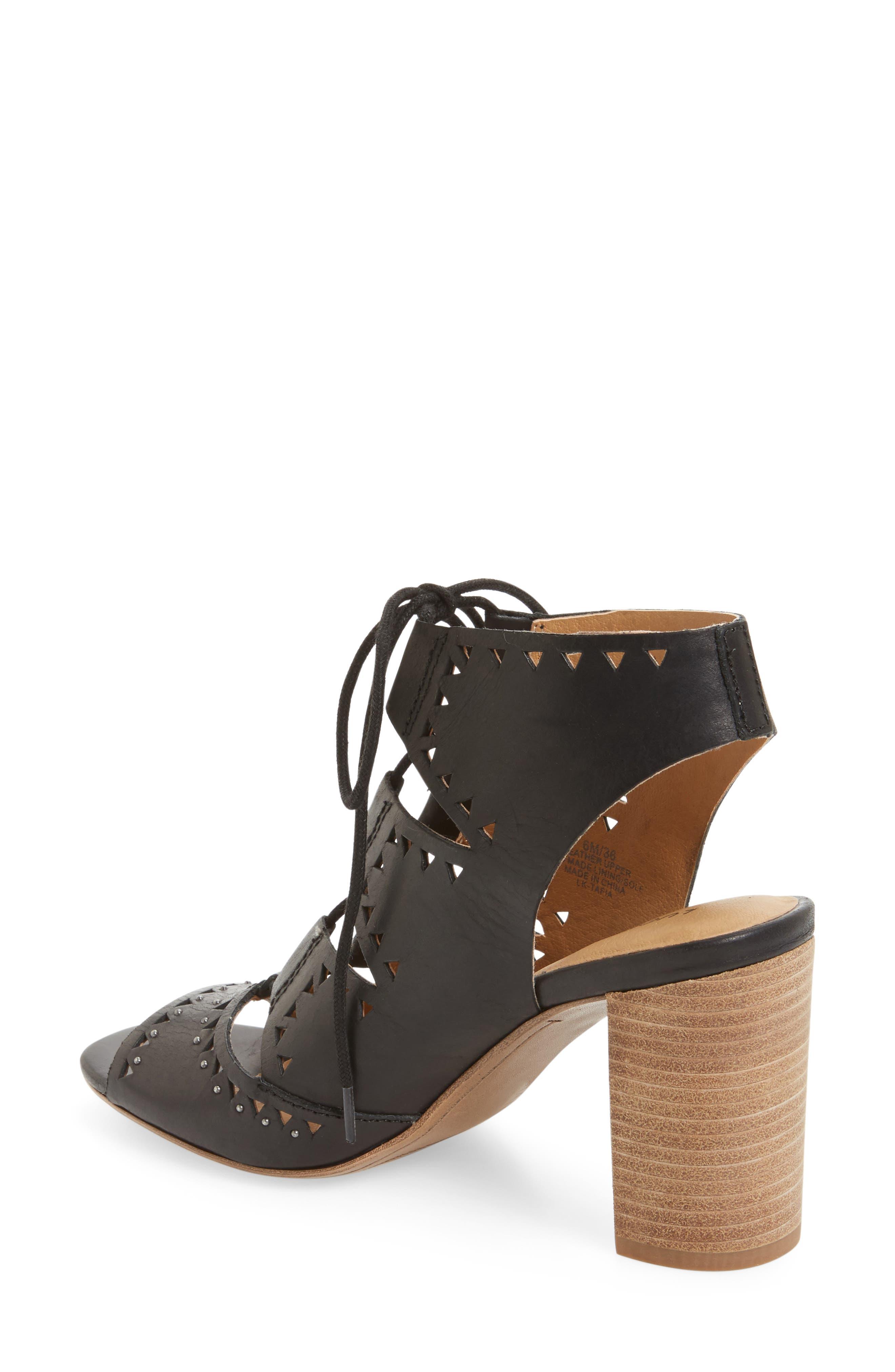 Tafia Lace-Up Sandal,                             Alternate thumbnail 2, color,                             001