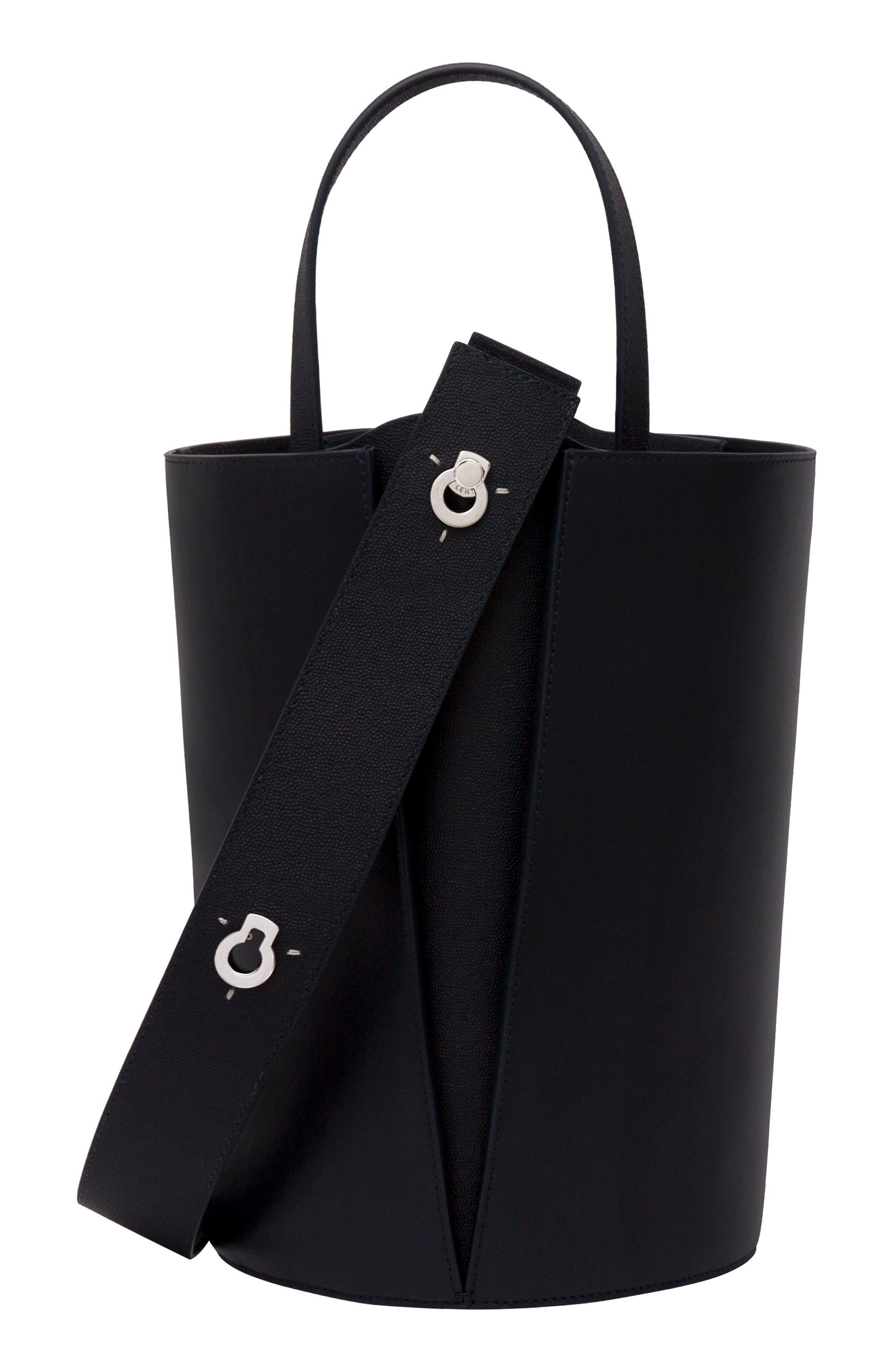 Mini Lorna Leather Bucket Bag,                             Alternate thumbnail 10, color,                             MARINE