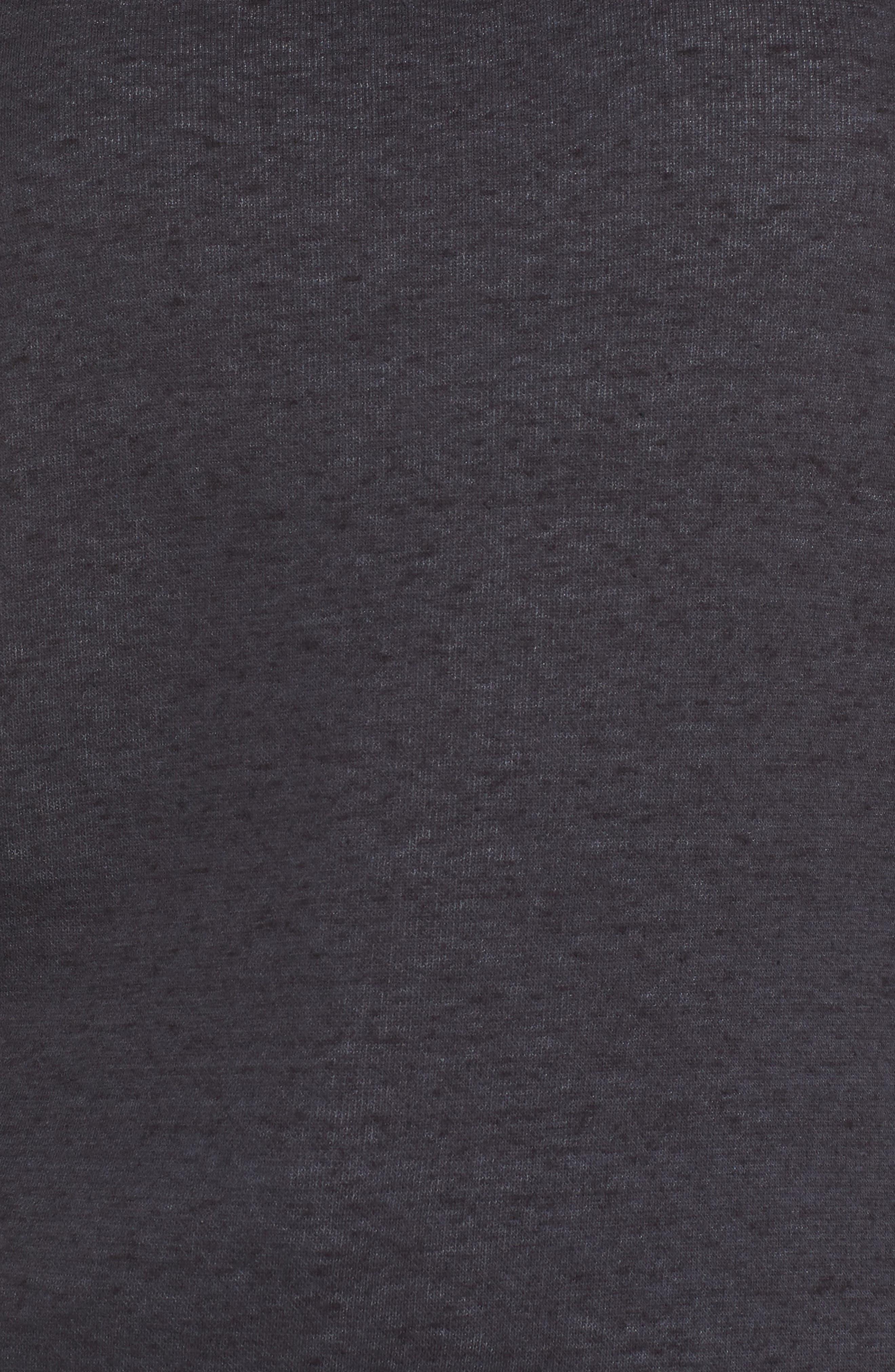 Morgan Sweatshirt,                             Alternate thumbnail 5, color,                             BLACK HEATHER