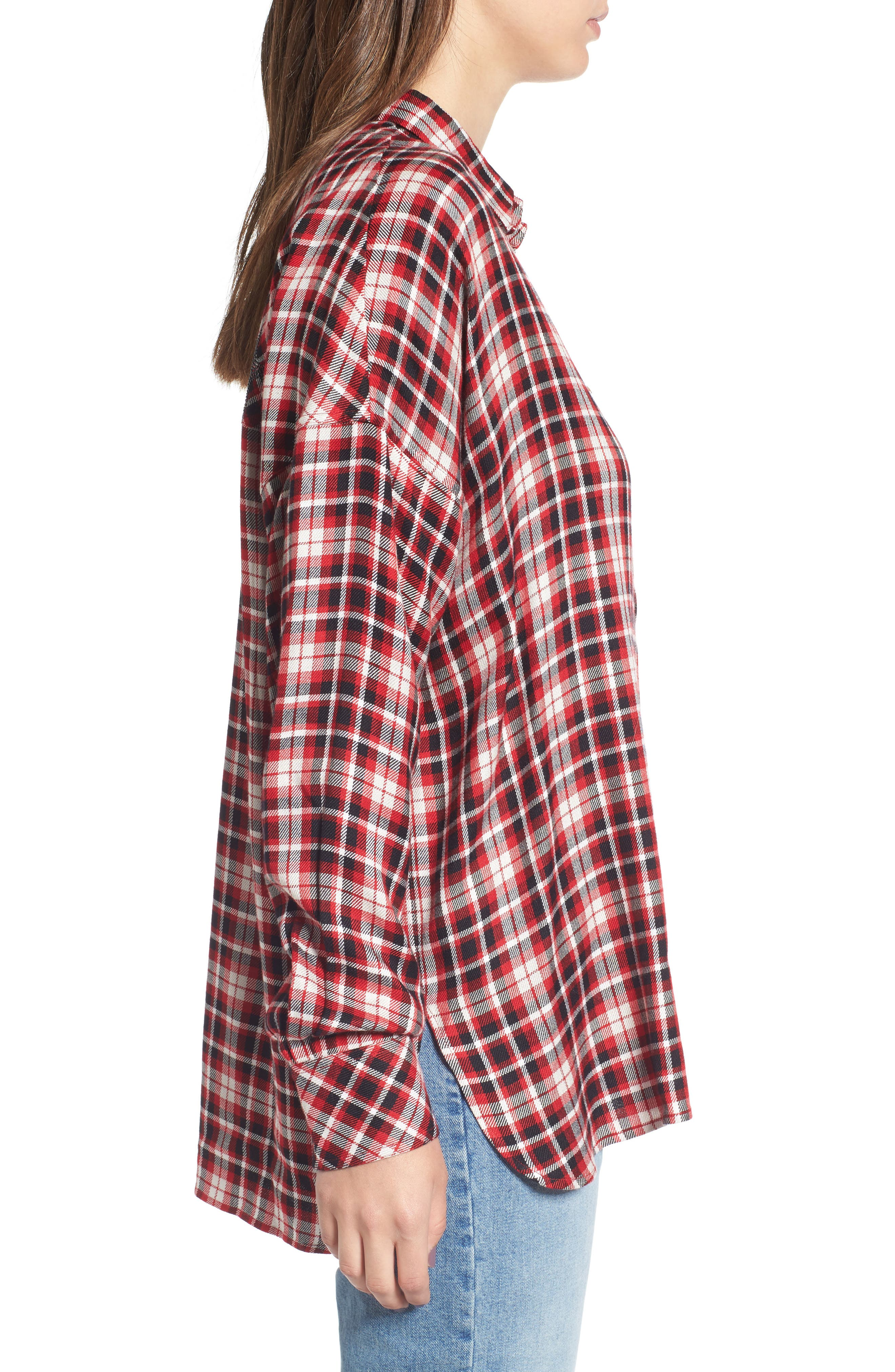 Tamara Car Plaid Shirt,                             Alternate thumbnail 3, color,